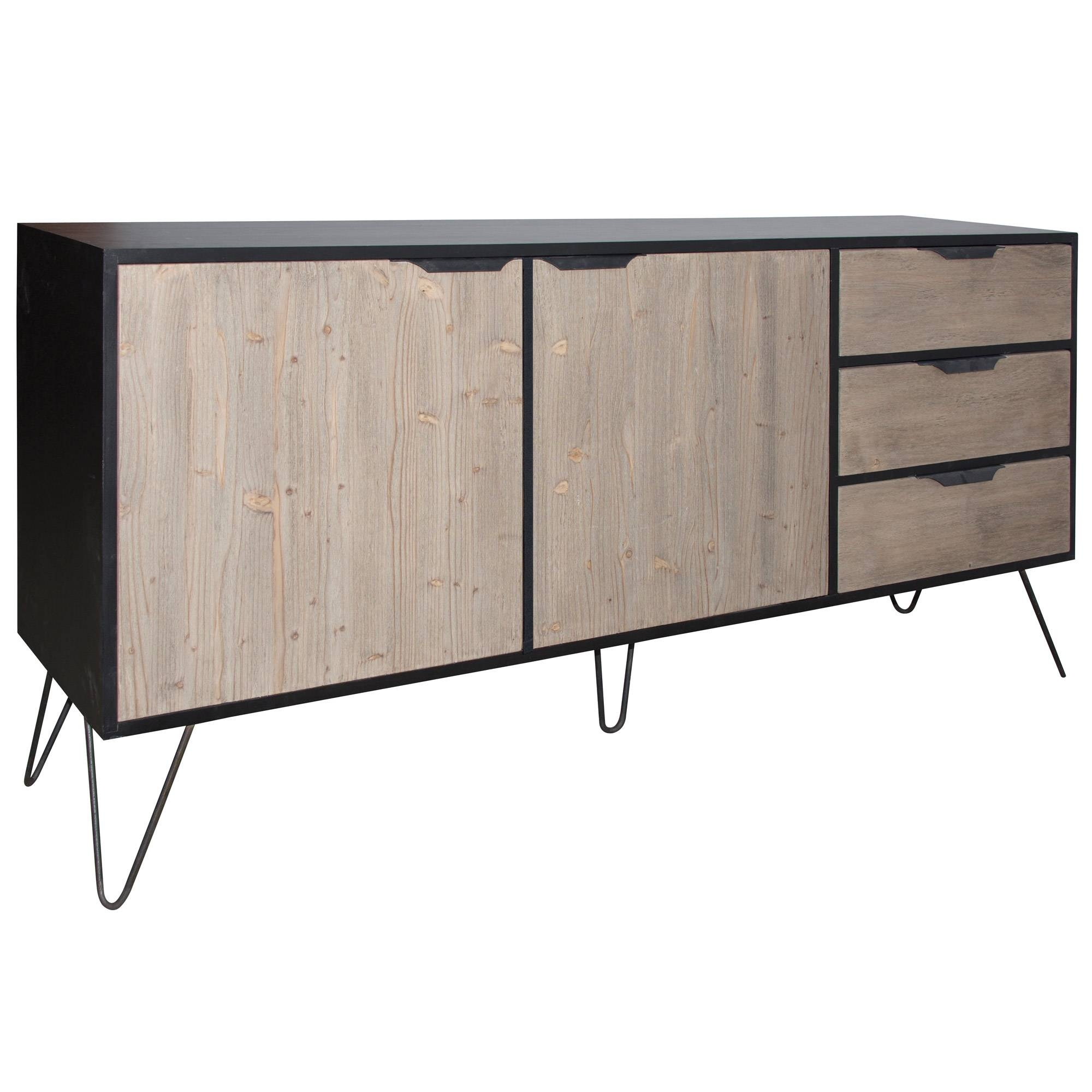French Wide Sideboard With Metal Legs | No 44 Furniture, Cobham pertaining to Metal Sideboard Furniture (Image 13 of 30)