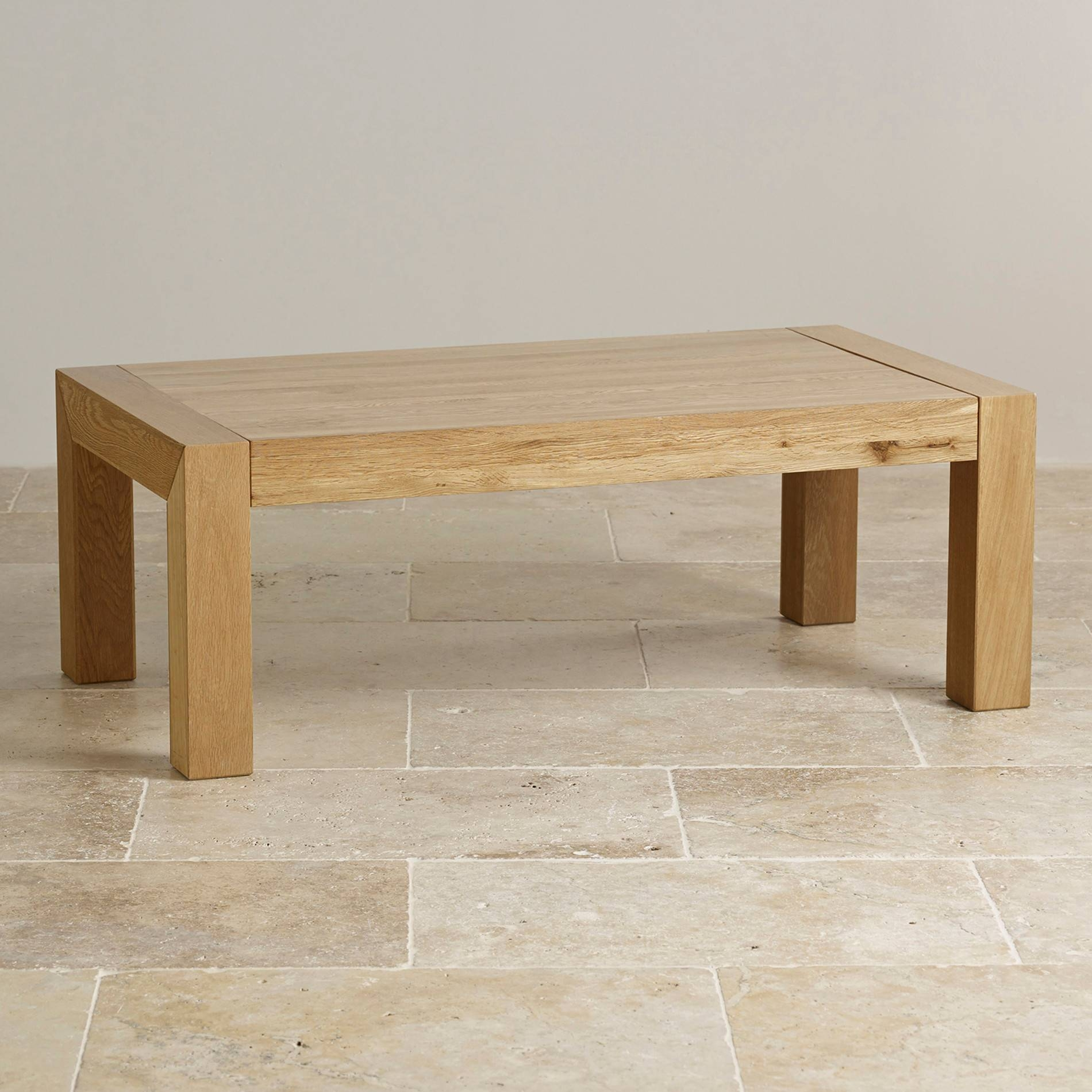 Fresco 2 Drawer Coffee Table In Solid Oak | Oak Furniture Land pertaining to Chunky Oak Coffee Tables (Image 20 of 30)