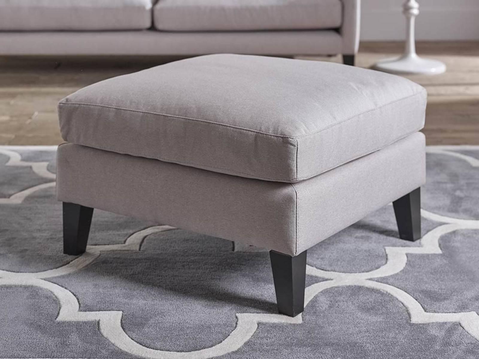 Freya Upholstered Footstool | Living It Up intended for Upholstered Footstools (Image 6 of 30)