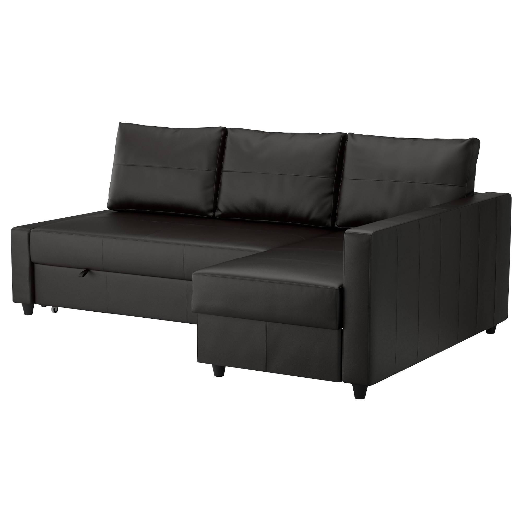 Friheten Corner Sofa-Bed With Storage Bomstad Black - Ikea inside Corner Sofa Bed With Storage Ikea (Image 9 of 30)