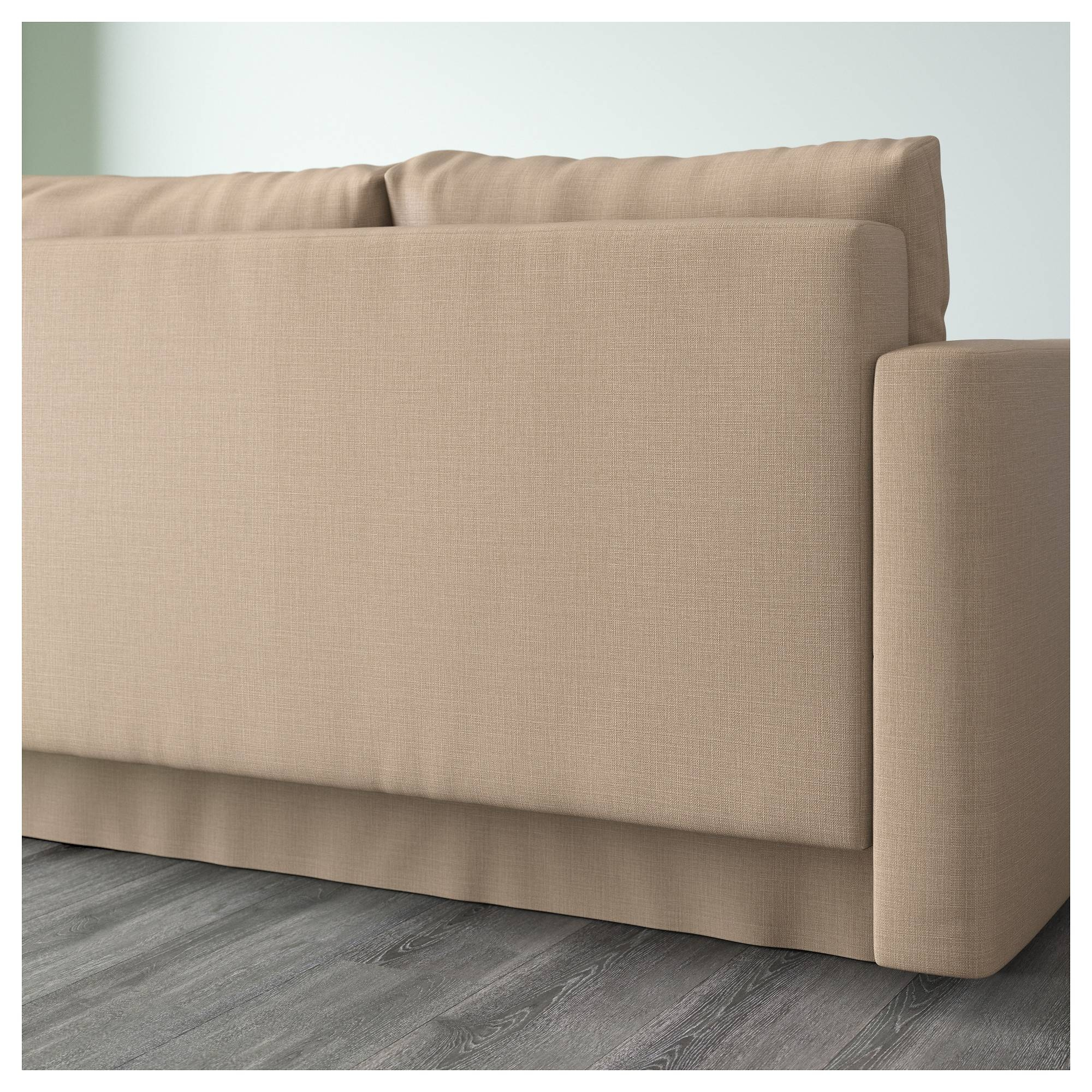 Friheten Corner Sofa-Bed With Storage Skiftebo Beige - Ikea within Ikea Corner Sofa Bed With Storage (Image 7 of 25)