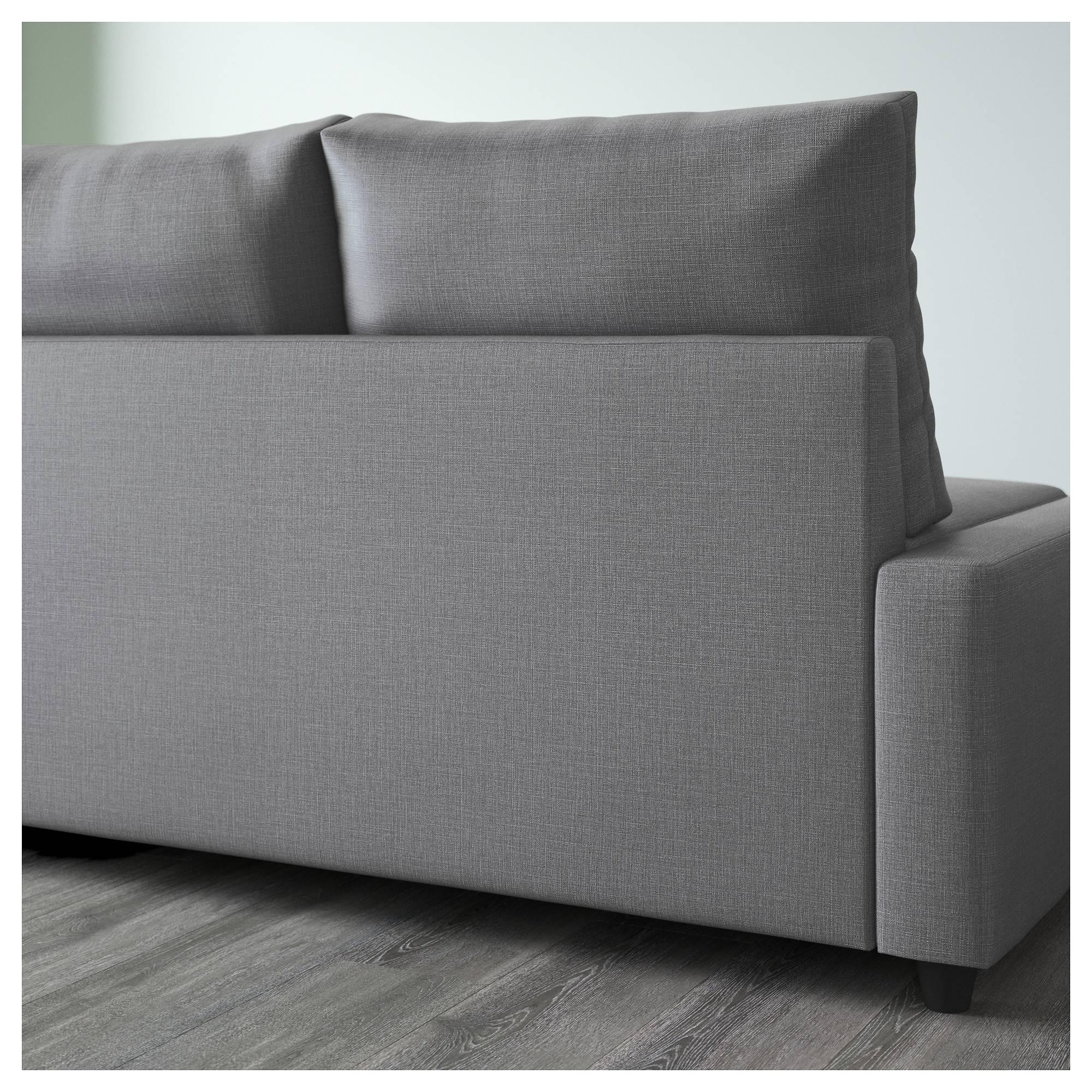 Friheten Corner Sofa-Bed With Storage Skiftebo Dark Grey - Ikea for Storage Sofas Ikea (Image 6 of 25)