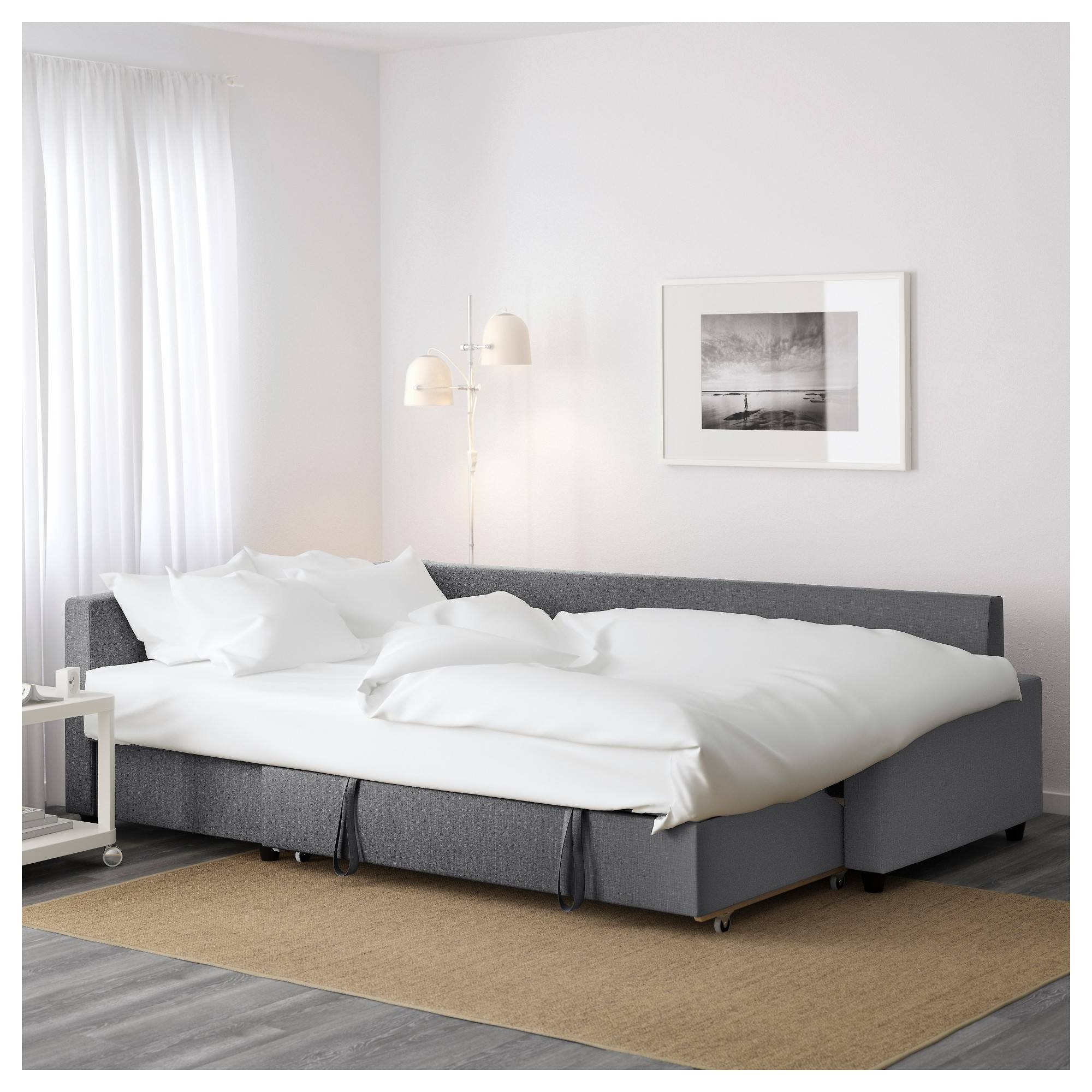 Friheten Corner Sofa-Bed With Storage Skiftebo Dark Grey - Ikea inside Storage Sofas Ikea (Image 7 of 25)