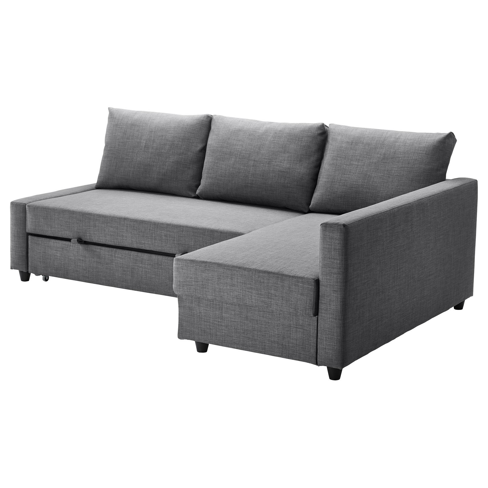 Friheten Corner Sofa-Bed With Storage Skiftebo Dark Grey - Ikea within Corner Couch Bed (Image 20 of 30)