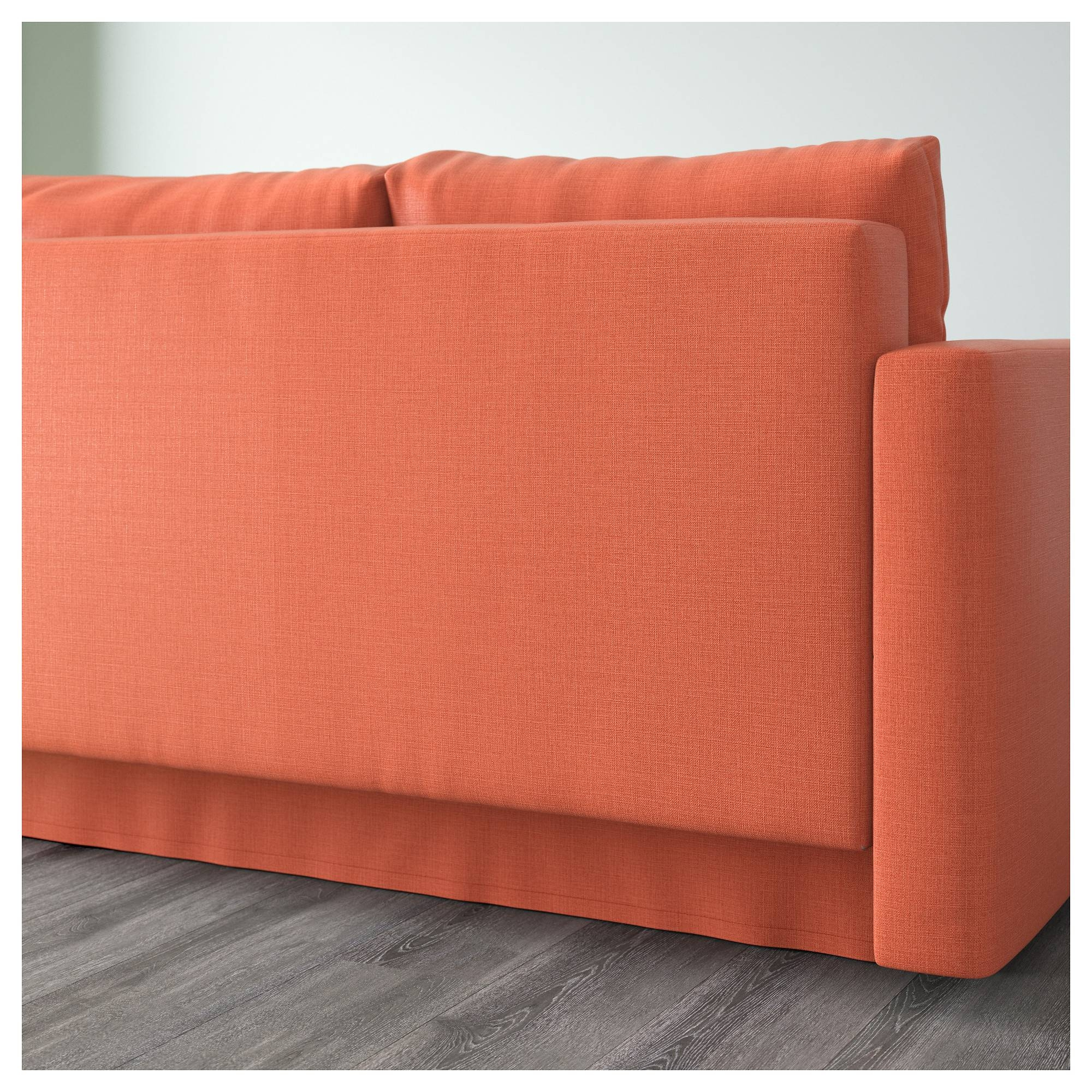 Friheten Corner Sofa-Bed With Storage Skiftebo Dark Orange - Ikea with Orange Ikea Sofas (Image 11 of 30)