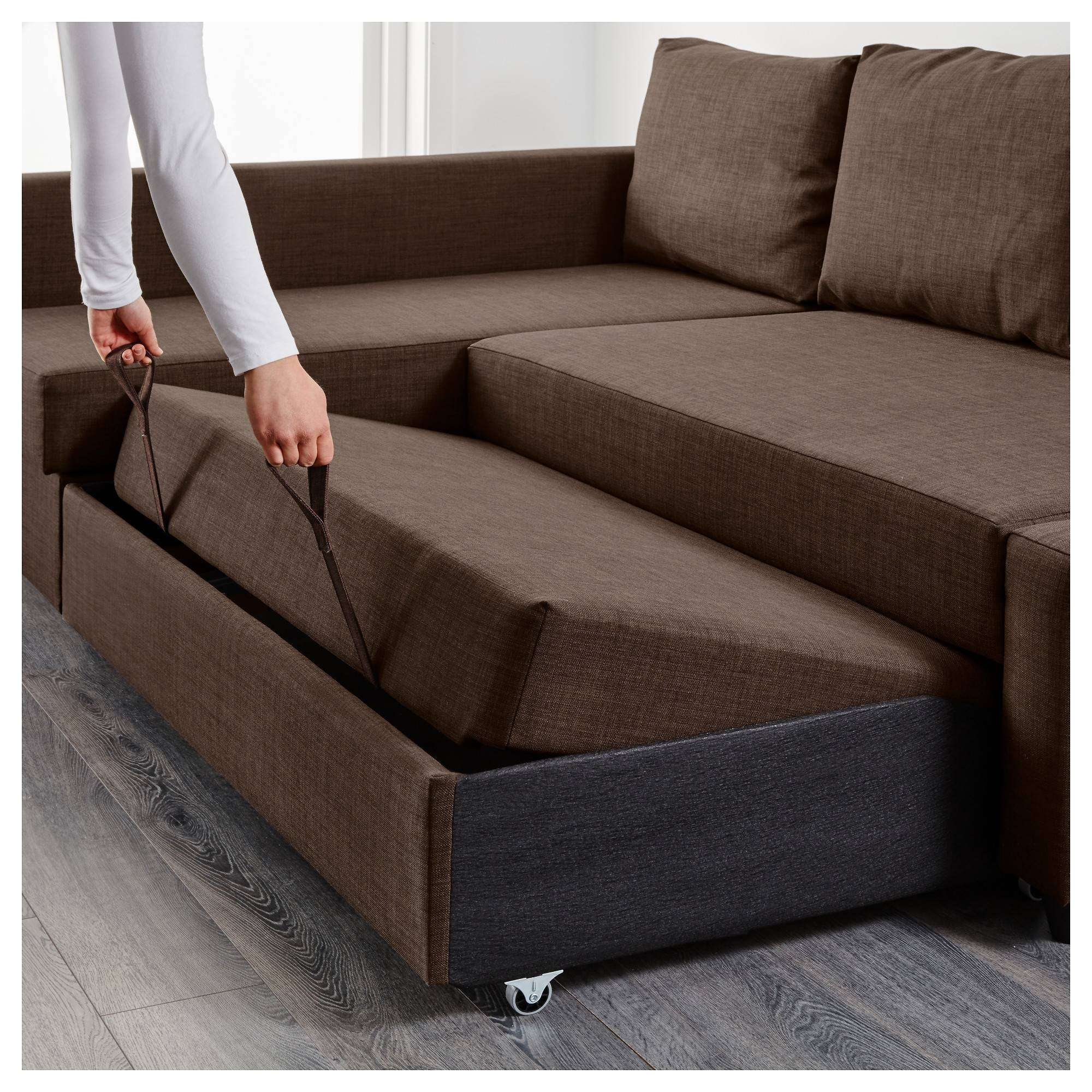 Friheten Sleeper Sectional,3 Seat W/storage - Skiftebo Dark Gray in Sofa Beds With Storages (Image 14 of 30)