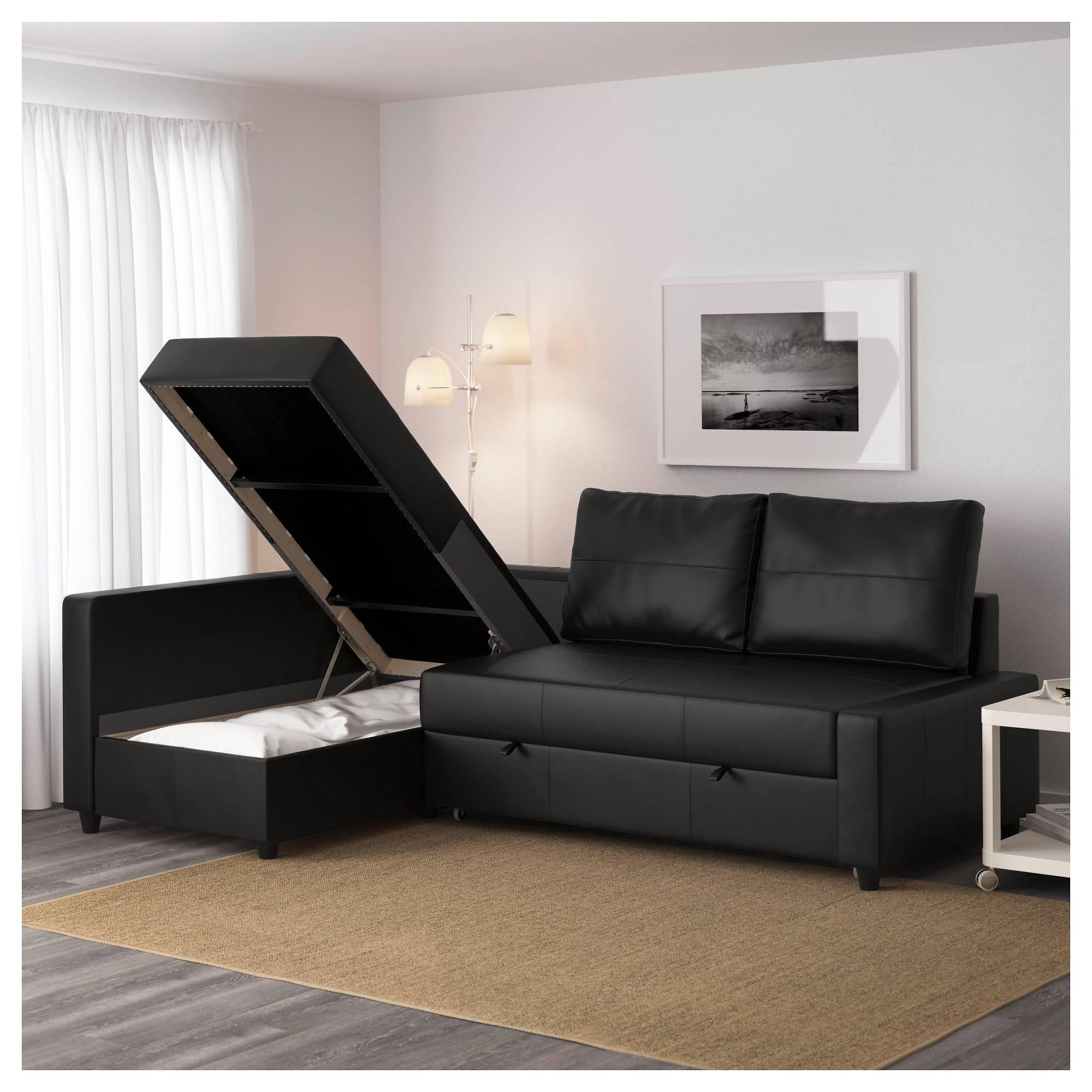 Friheten Sleeper Sectional,3 Seat W/storage - Skiftebo Dark Gray in Storage Sofa Ikea (Image 10 of 25)