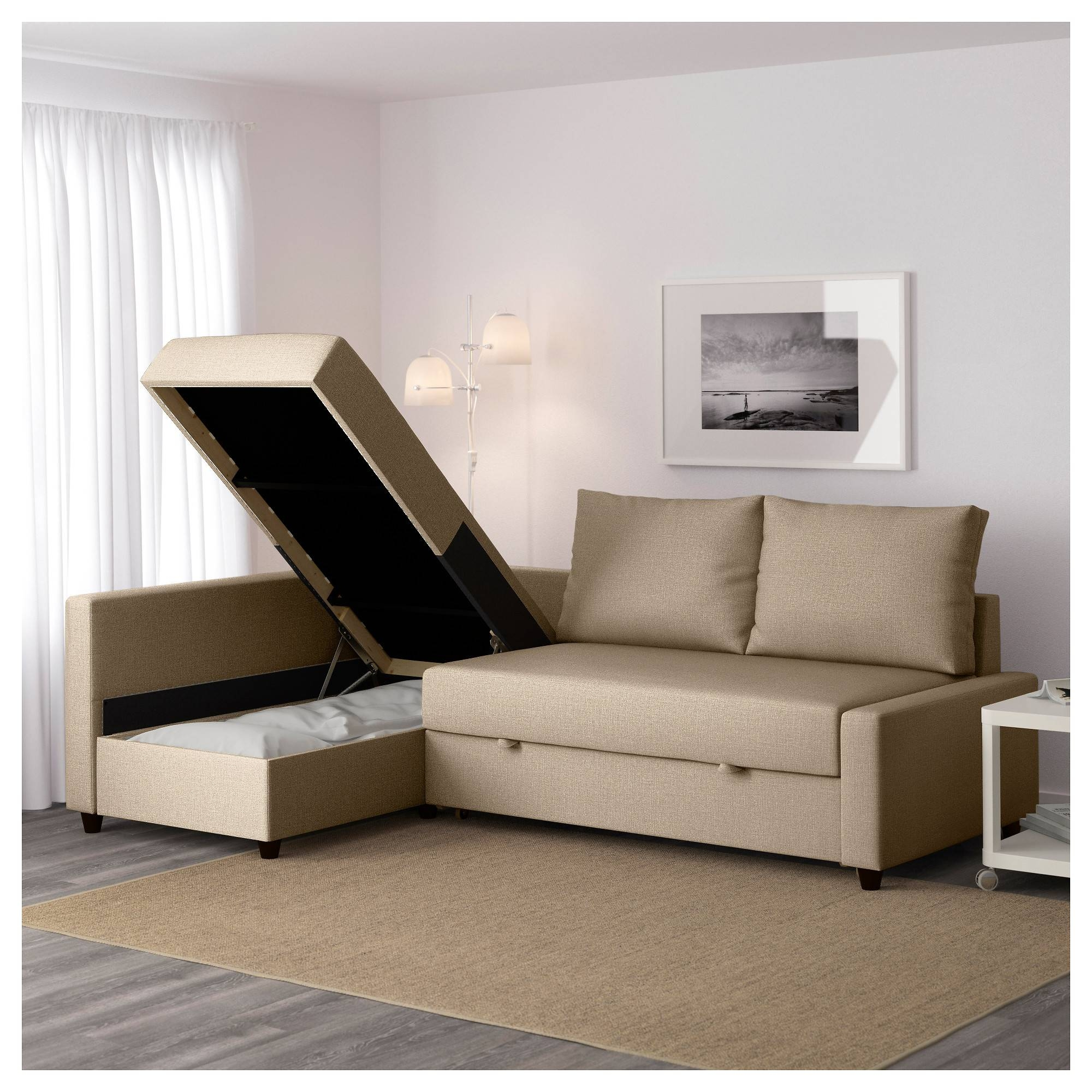 Friheten Sleeper Sectional,3 Seat W/storage - Skiftebo Dark Gray inside Sleeper Sectional Sofa Ikea (Image 6 of 25)