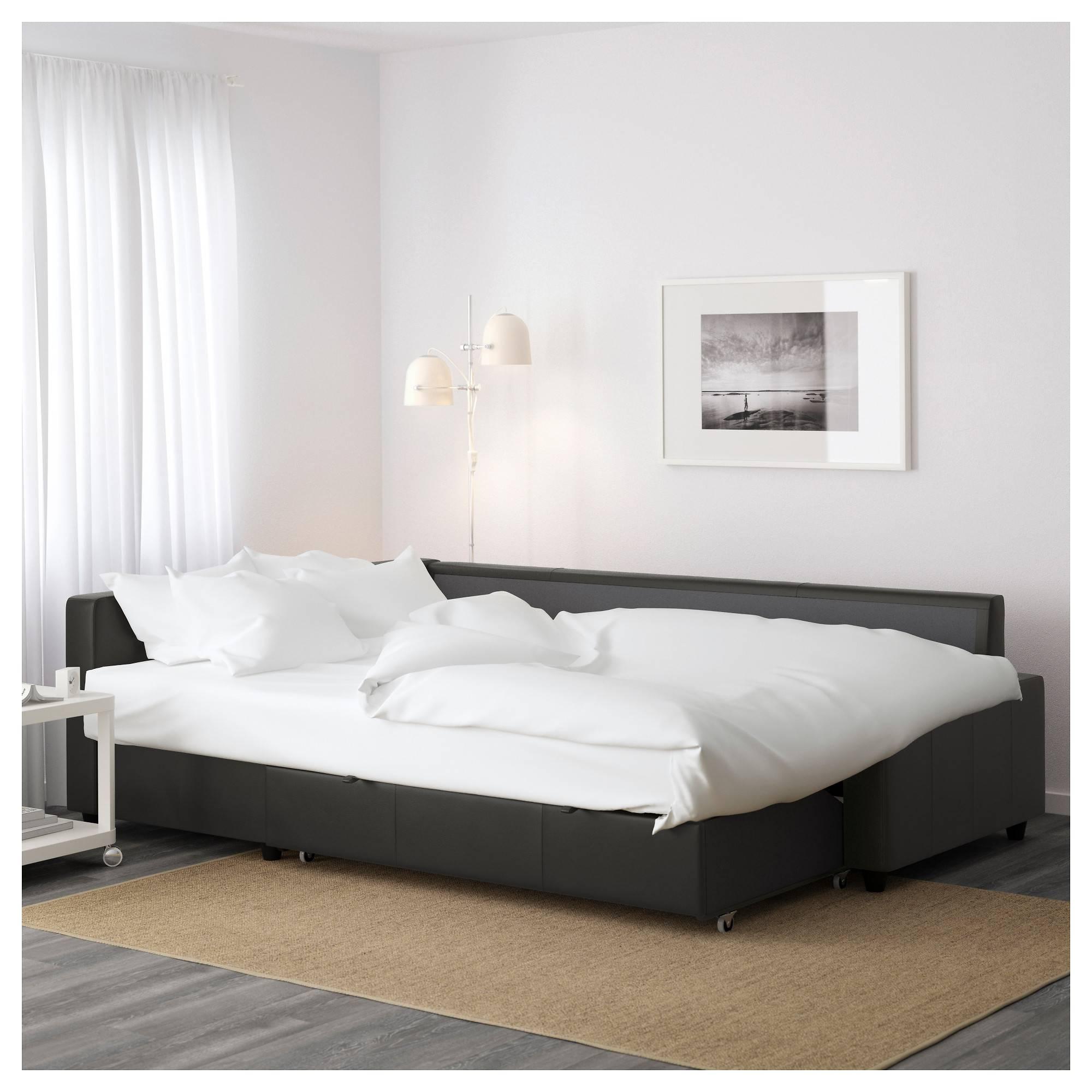 Friheten Sleeper Sectional,3 Seat W/storage - Skiftebo Dark Gray inside Storage Sofa Ikea (Image 11 of 25)