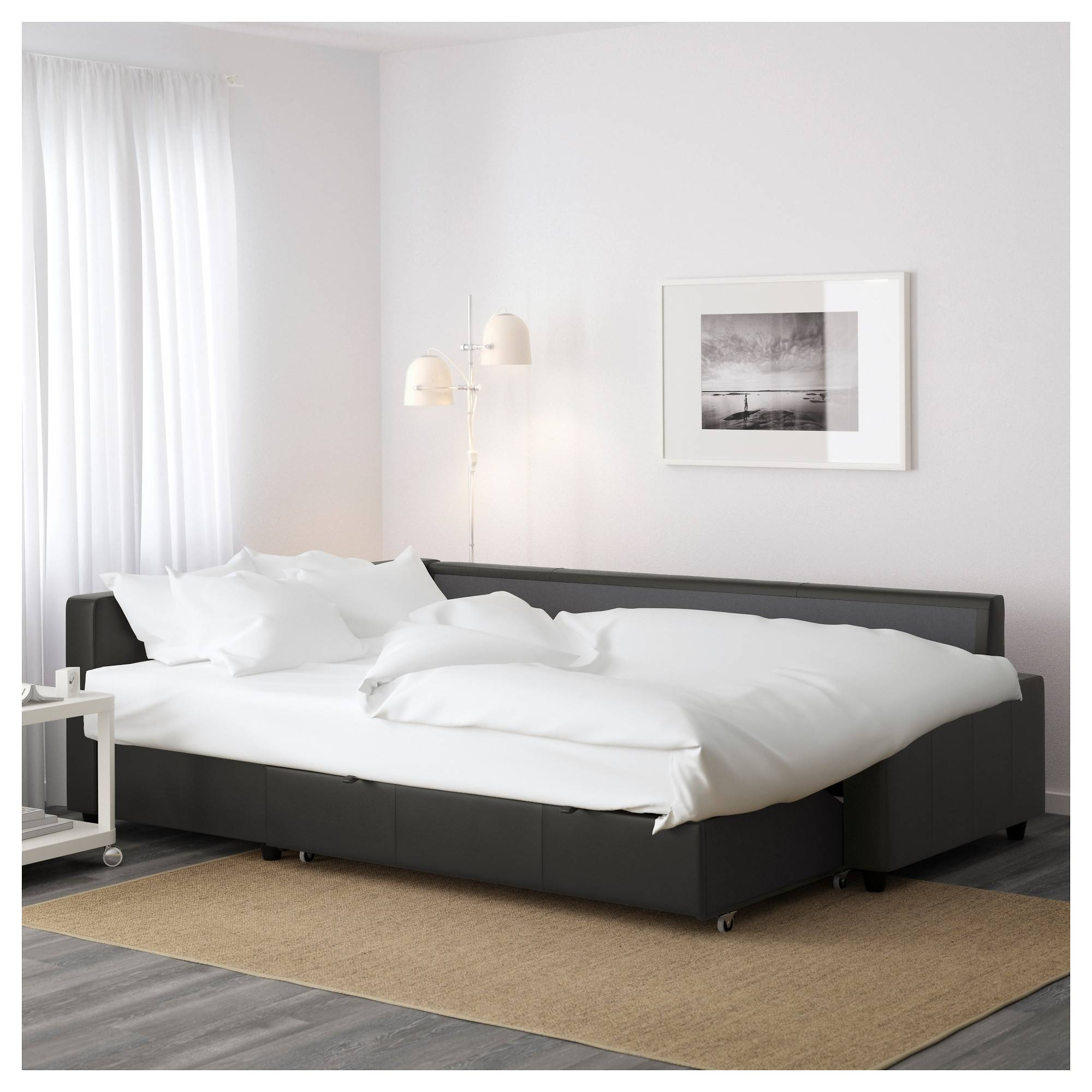 Friheten Sleeper Sectional,3 Seat W/storage - Skiftebo Dark Gray with regard to Ikea Storage Sofa Bed (Image 11 of 25)