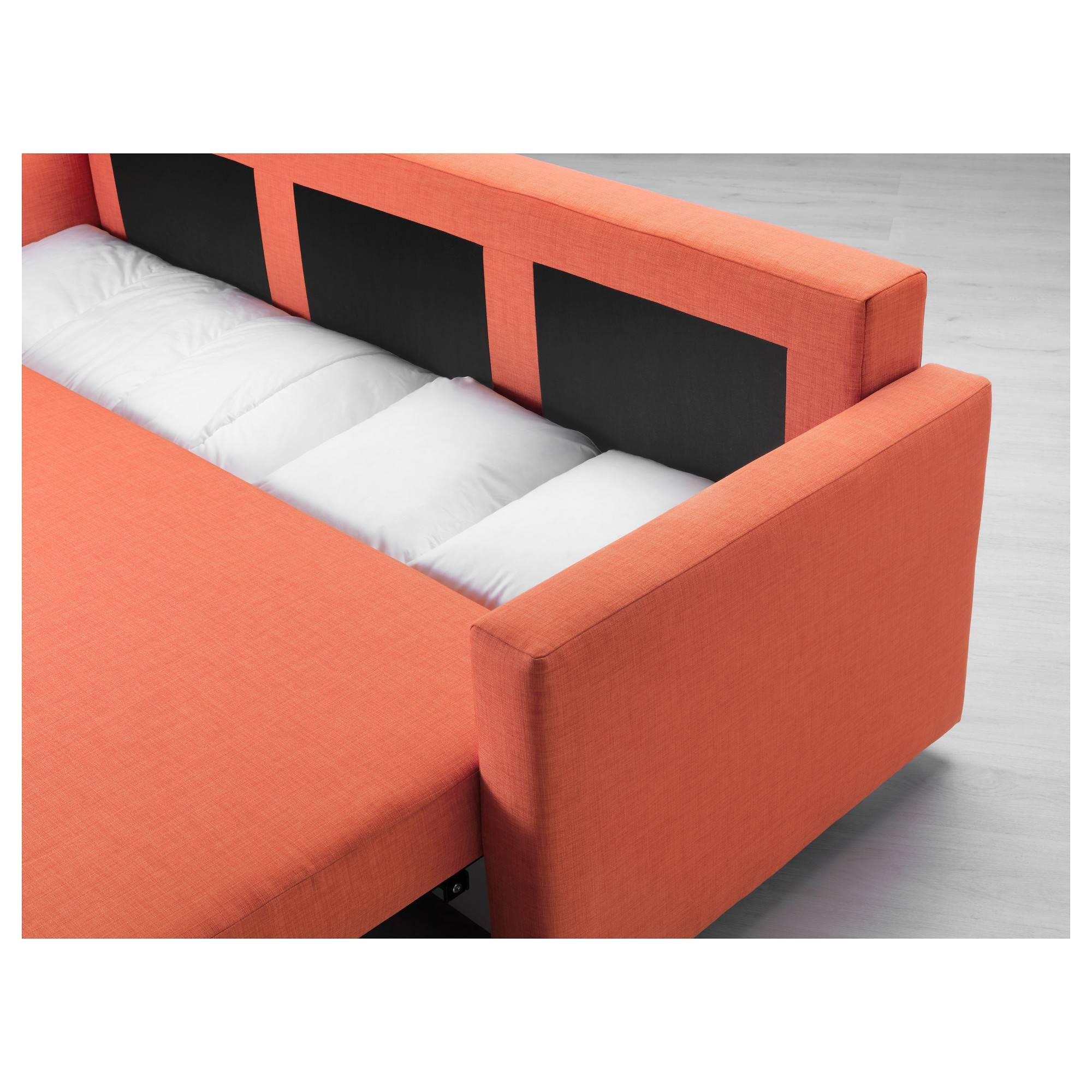 Friheten Three-Seat Sofa-Bed Skiftebo Dark Orange - Ikea throughout Orange Ikea Sofas (Image 14 of 30)