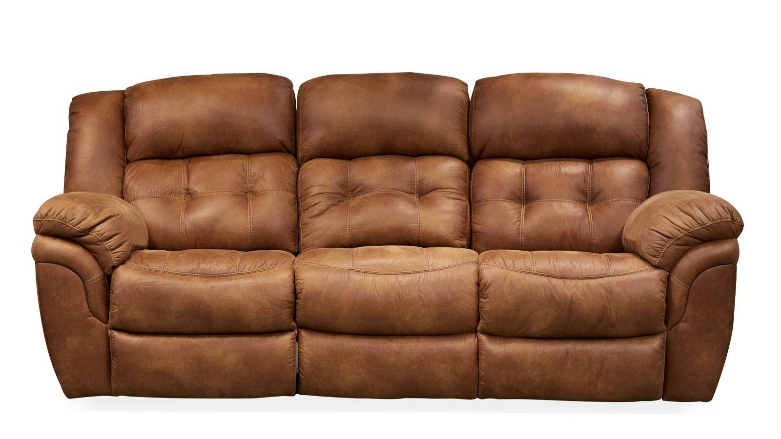 Frontier Almond Reclining Sofa | Gallery Furniture in Recliner Sofa Chairs (Image 15 of 30)