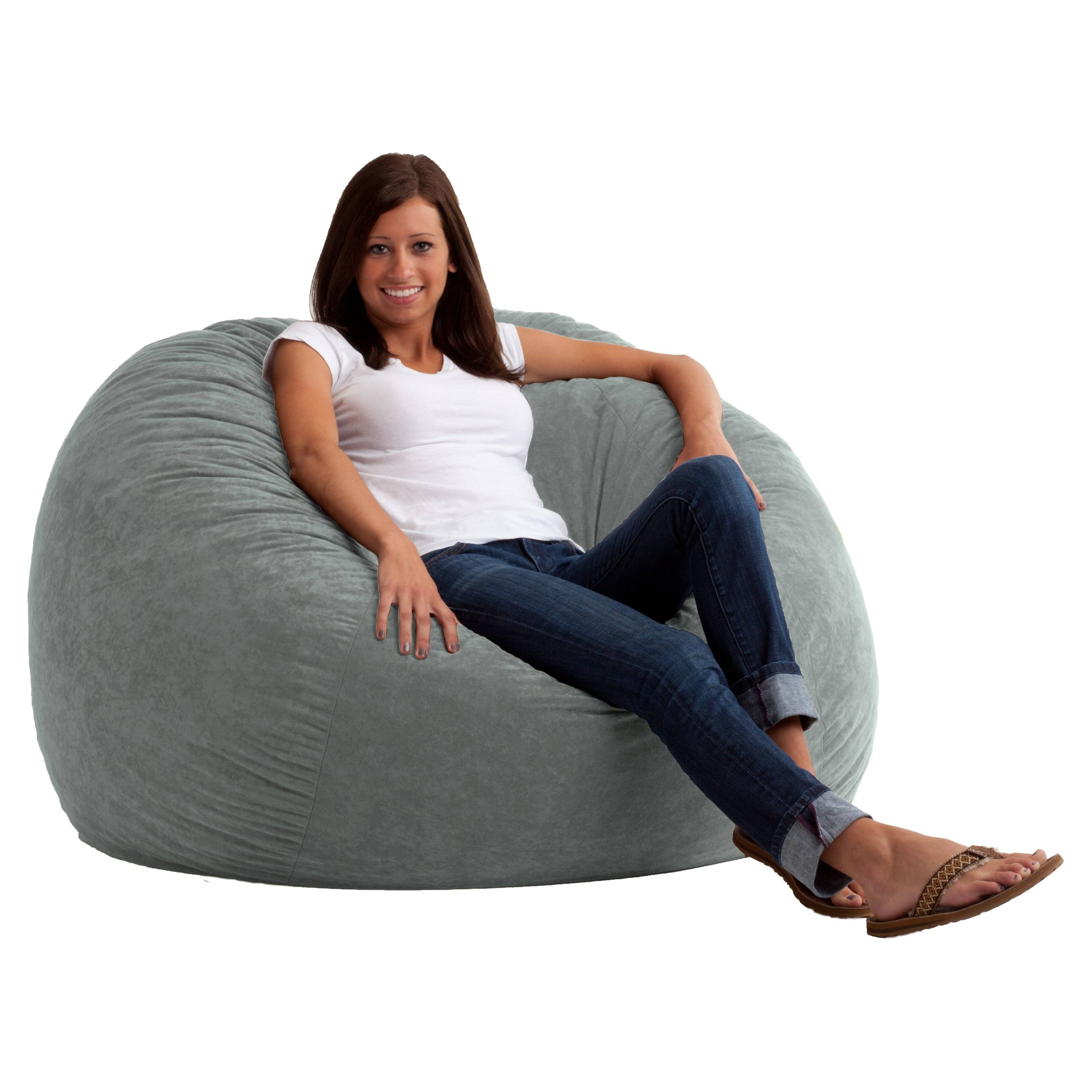 Fuf 6 Ft. Xl Comfort Suede Bean Bag Sofa | Hayneedle with regard to Bean Bag Sofa Chairs (Image 13 of 15)