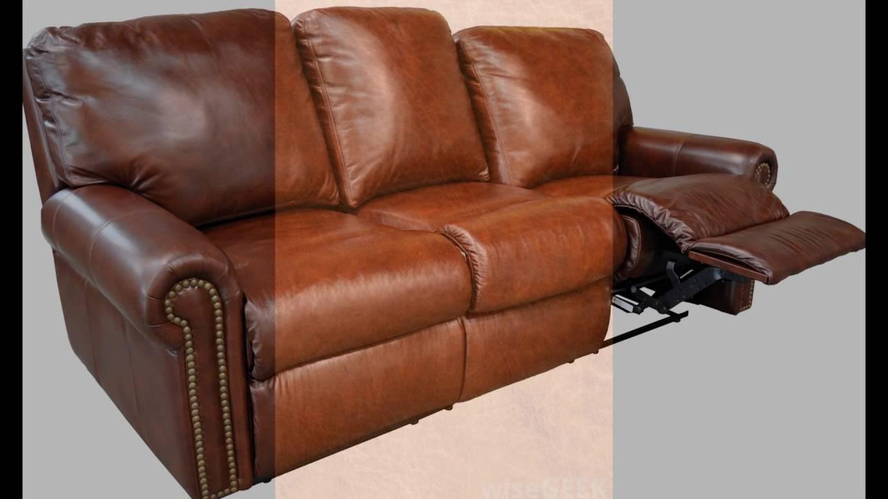Full Grain Leather Recliner - Youtube for Full Grain Leather Sofas (Image 7 of 30)