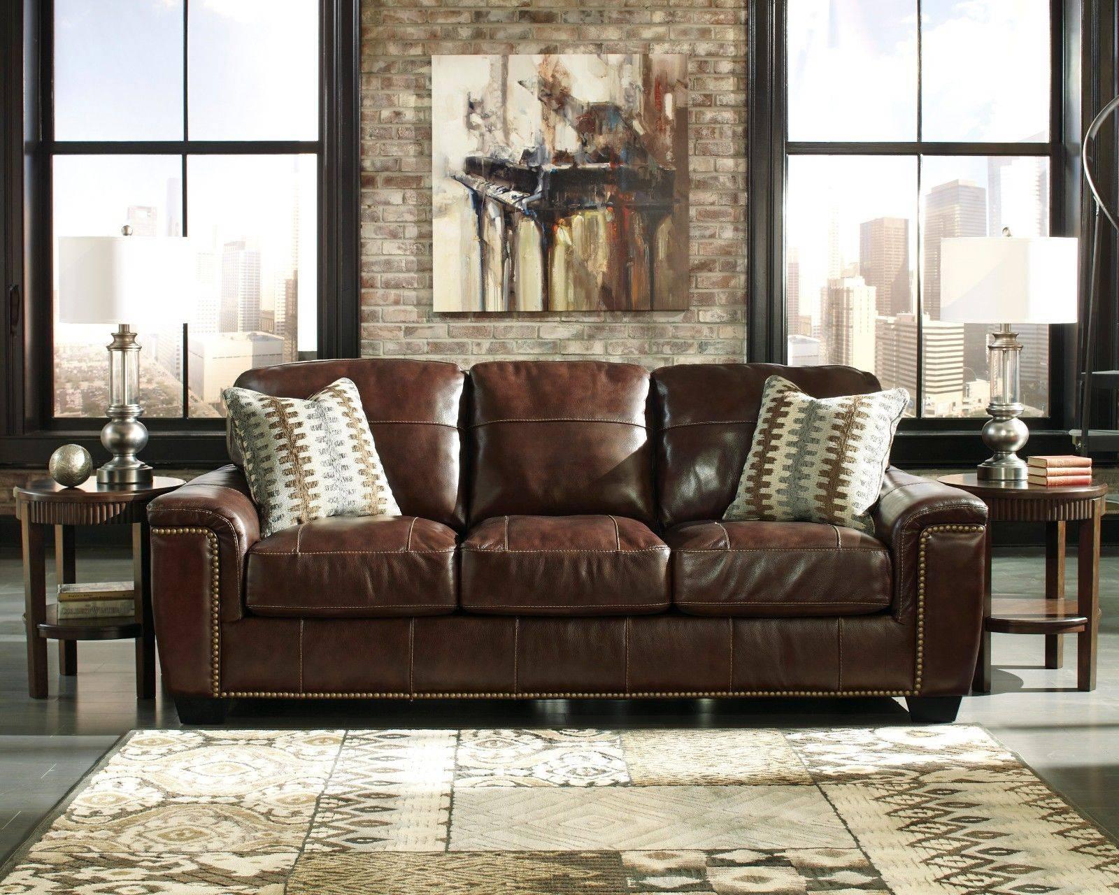Full Grain Leather Sofa Ideas | Porch & Living Room for Full Grain Leather Sofas (Image 10 of 30)