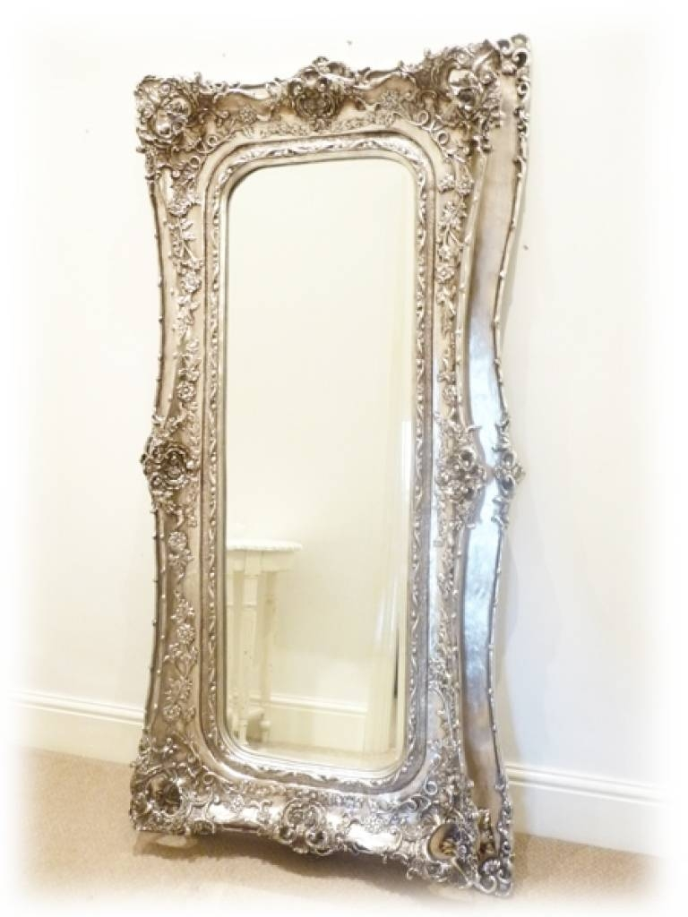 Full Length Decorative Wall Mirrors Mirrors Grand Silver Full with regard to Decorative Full Length Mirrors (Image 12 of 25)