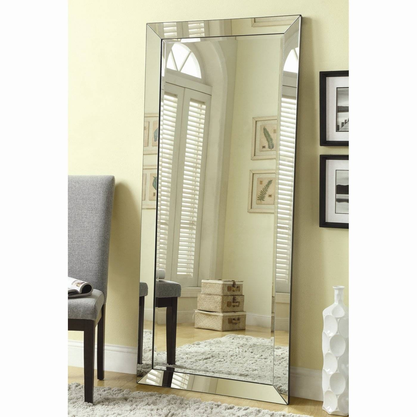 Full Length Floor Standing Mirror 91 Trendy Interior Or Full intended for Large Floor Standing Mirrors (Image 14 of 25)