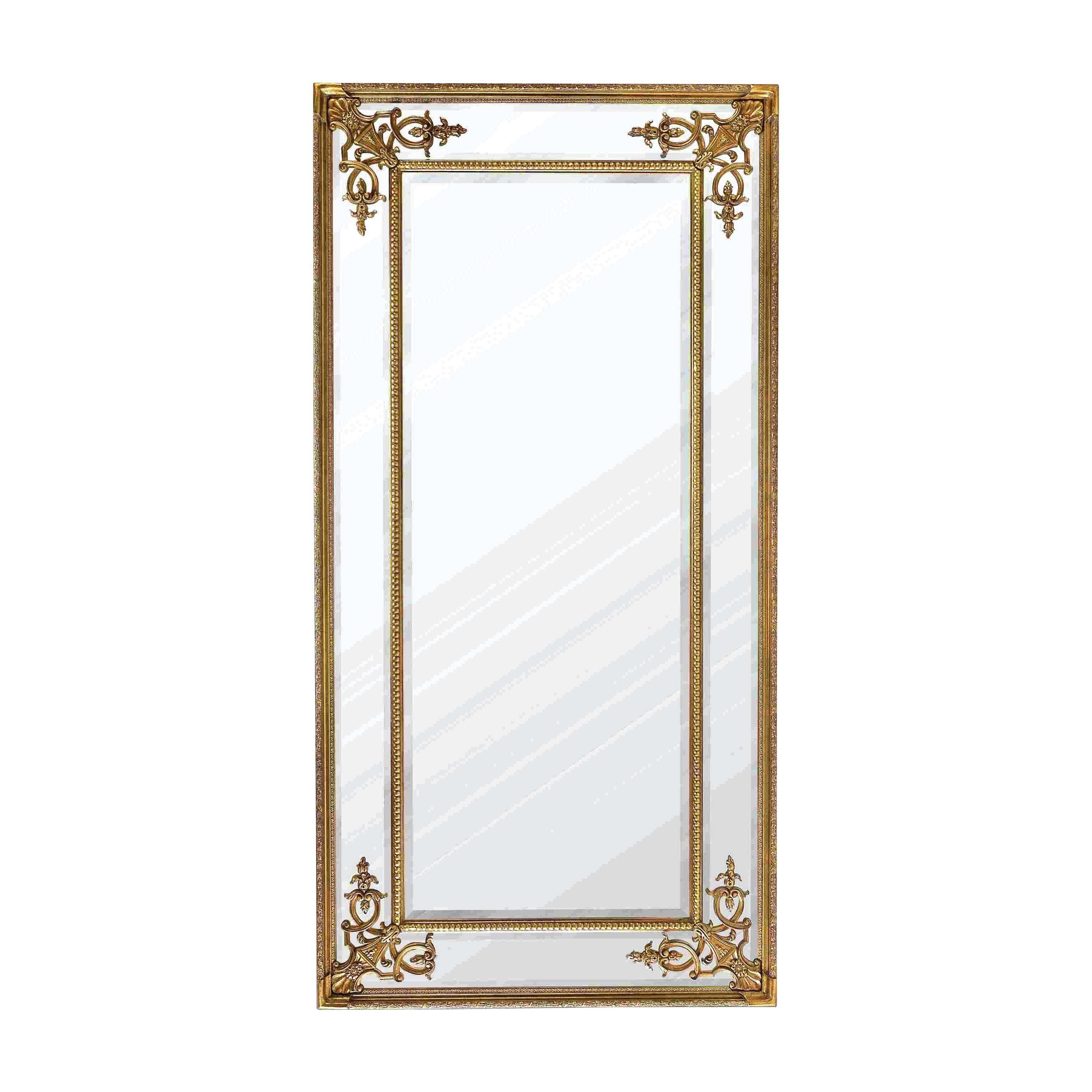 Full Length French Mirror In Gold with French Full Length Mirrors (Image 10 of 25)