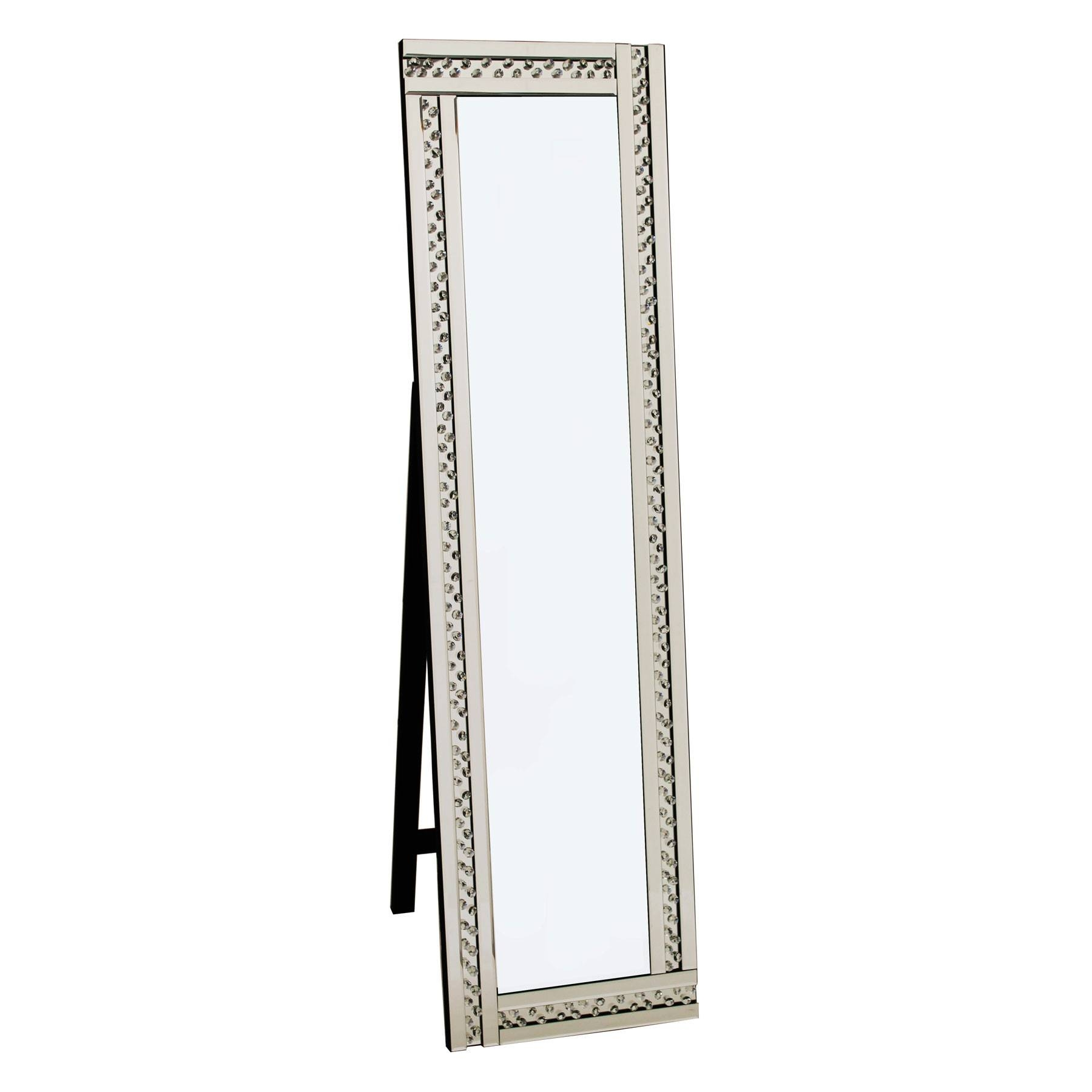 Full Length Glitz Silver Cheval Mirror within Silver Cheval Mirrors (Image 16 of 25)