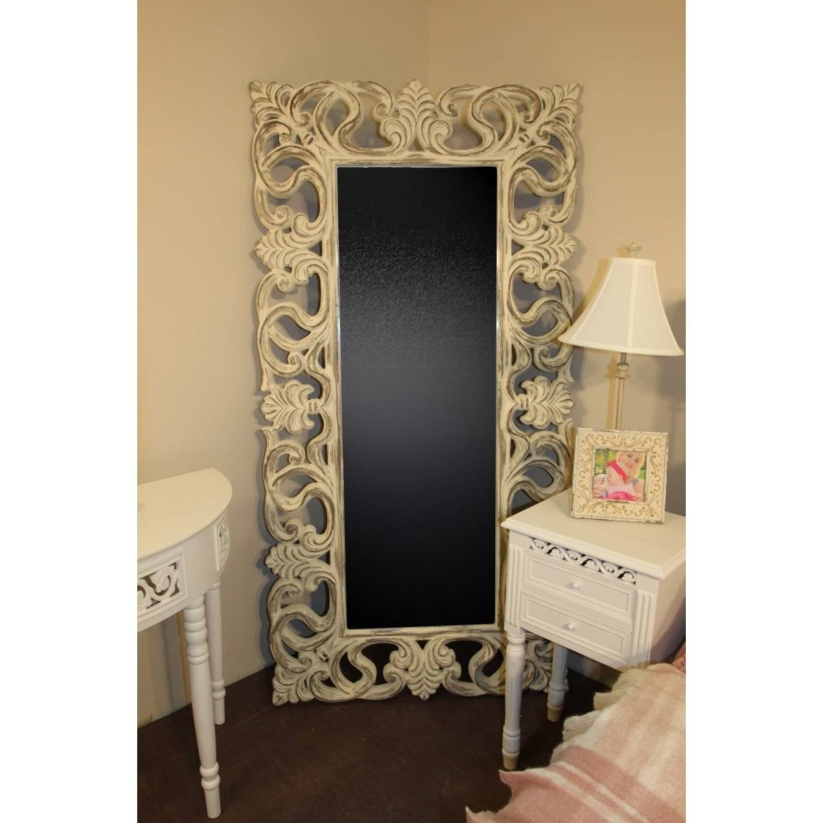 Full Length Mirror, Shabby Chic | Swanky Interiors pertaining to Shabby Chic Full Length Mirrors (Image 16 of 25)