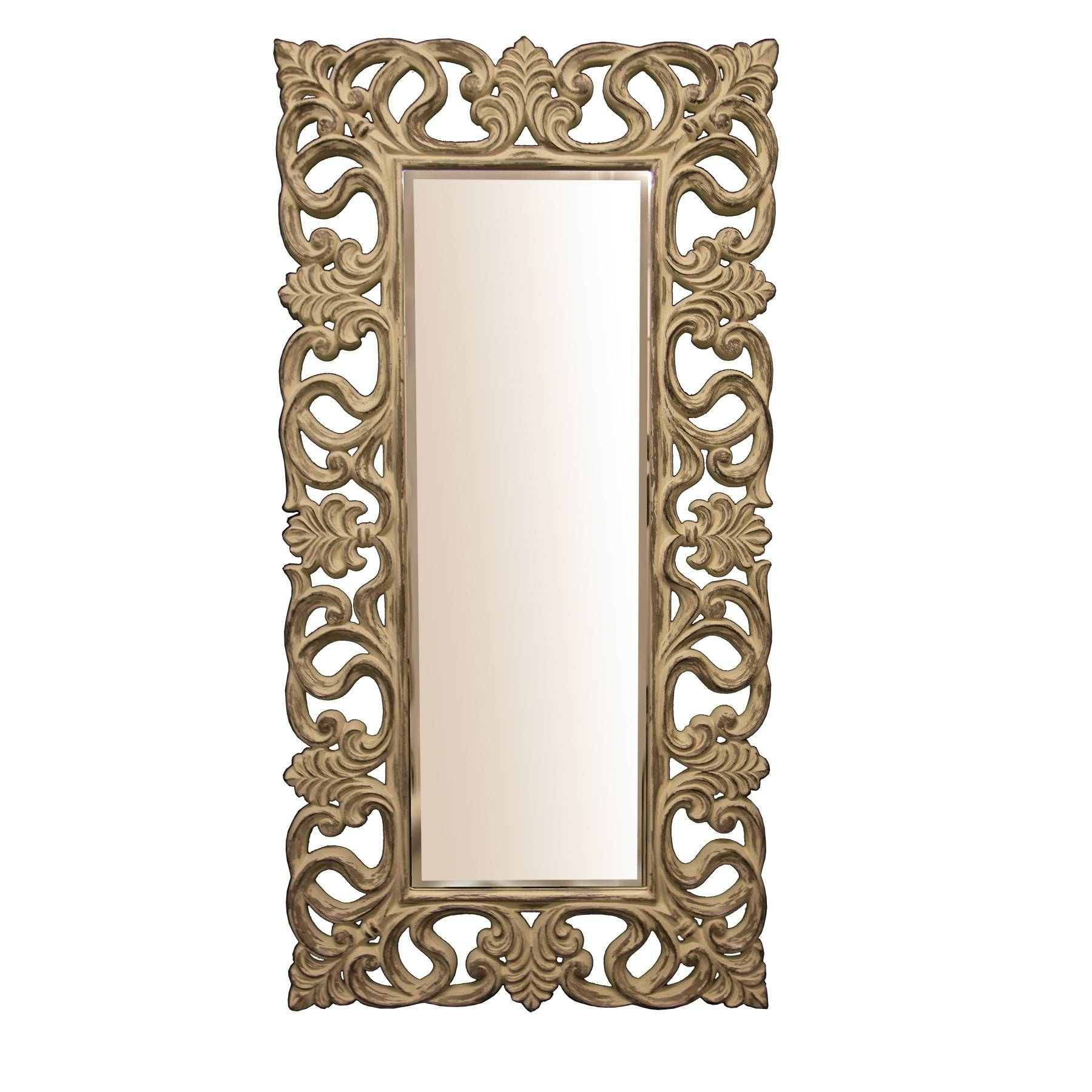 Full Length Mirror, Shabby Chic | Swanky Interiors with regard to Ornate Full Length Mirrors (Image 12 of 25)