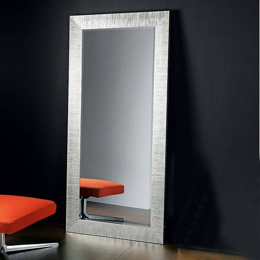 Full Length Mirror Silver 133 Stunning Decor With Contemporary with regard to Modern Silver Mirrors (Image 6 of 25)