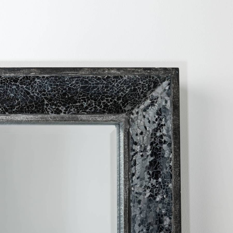 Full Length Mirror With Glitter Mosaichand Crafted Mirrors Throughout Glitter Frame Mirrors (View 15 of 25)