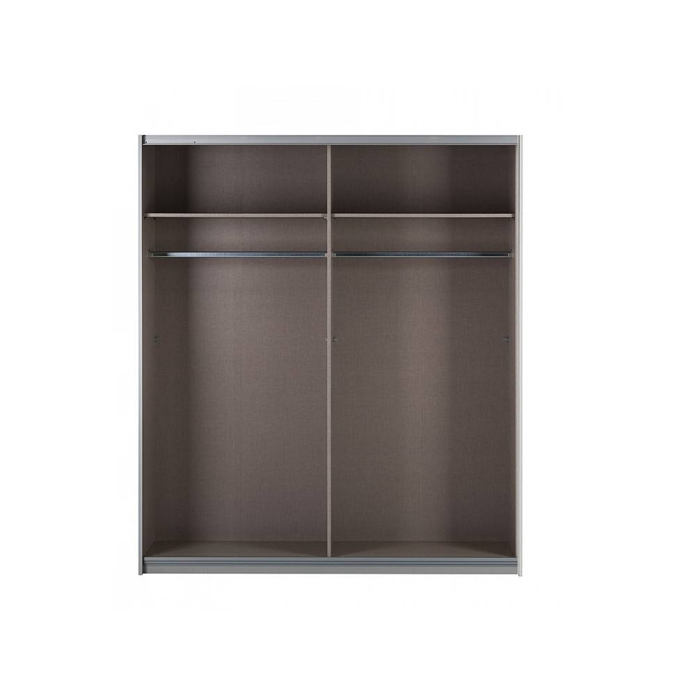 Fully Mirrored Sophia Sliding Door Wardrobes Metallic Grey (View 6 of 15)