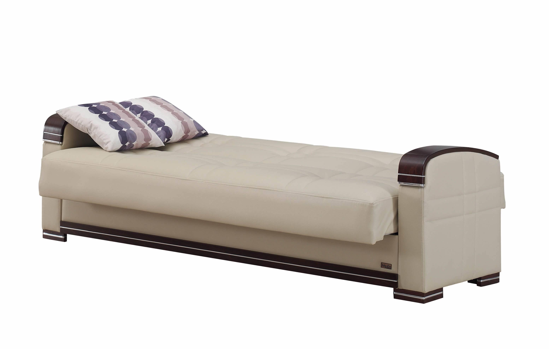 Fulton Cream Leather Sofa Bedempire Furniture Usa throughout Fulton Sofa Beds (Image 15 of 30)