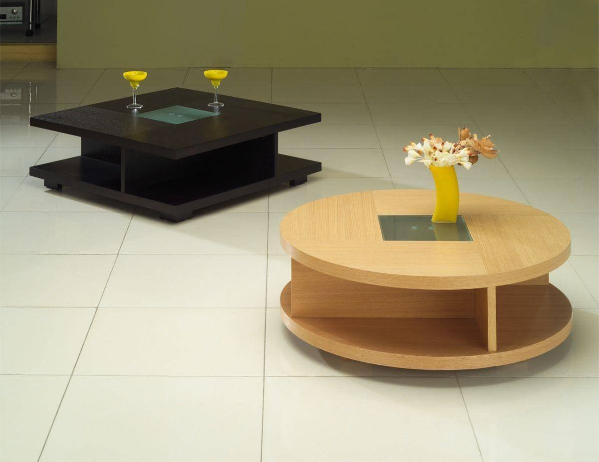 Fun Coffee Tables Wood Unique Round Or Square Coffee Table Home Intended For Small Circular Coffee Table (View 11 of 30)