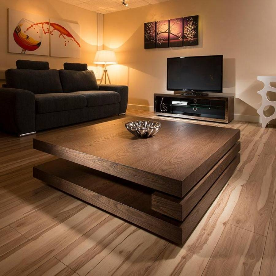 Functional Square Coffee Tables | Lgilab | Modern Style House in Dark Wood Square Coffee Tables (Image 15 of 30)