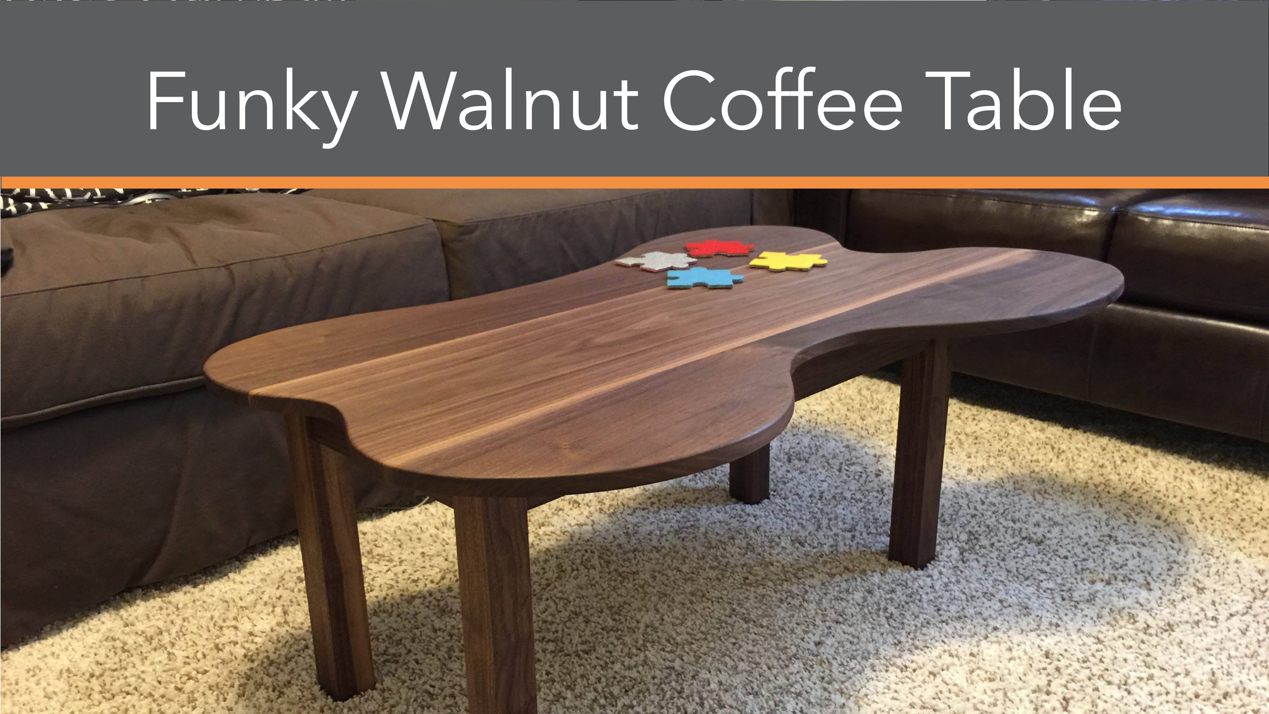 Funky Walnut Coffee Table Build - Youtube inside Funky Coffee Tables (Image 16 of 30)
