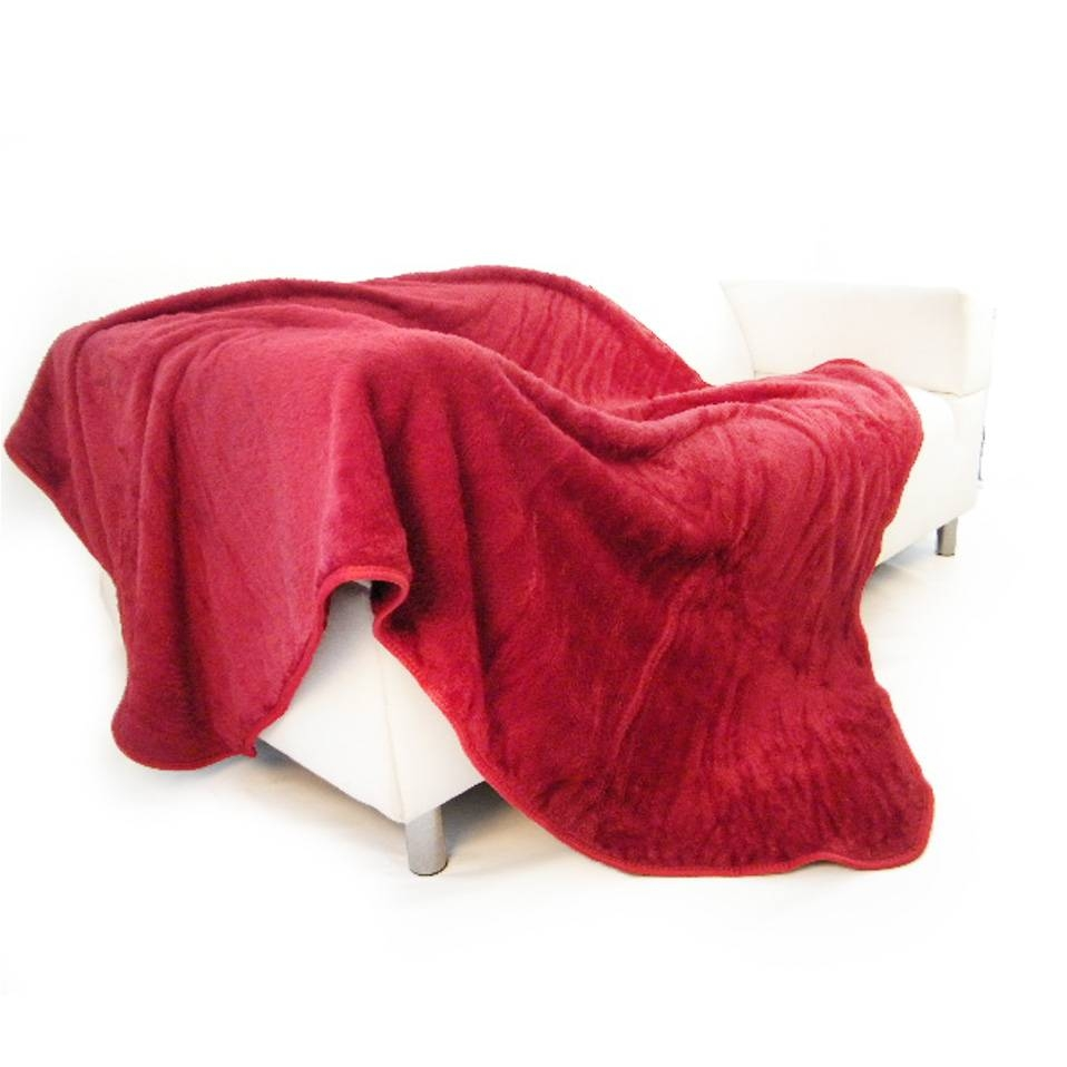 Fur Sofa Throws Flokati Sheepskin Couch Sofa Throws Cushion Buffer with regard to Red Sofa Throws (Image 12 of 25)