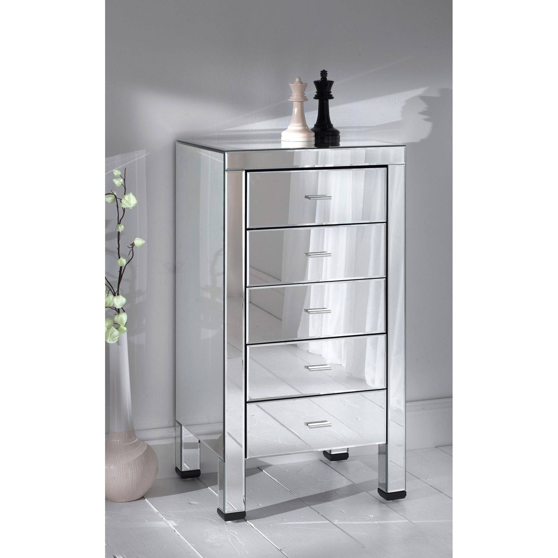 Furniture: 3 Drawers Mirrored Chest Of Drawers For Bedroom with regard to Cheap Wardrobes And Chest Of Drawers (Image 9 of 15)