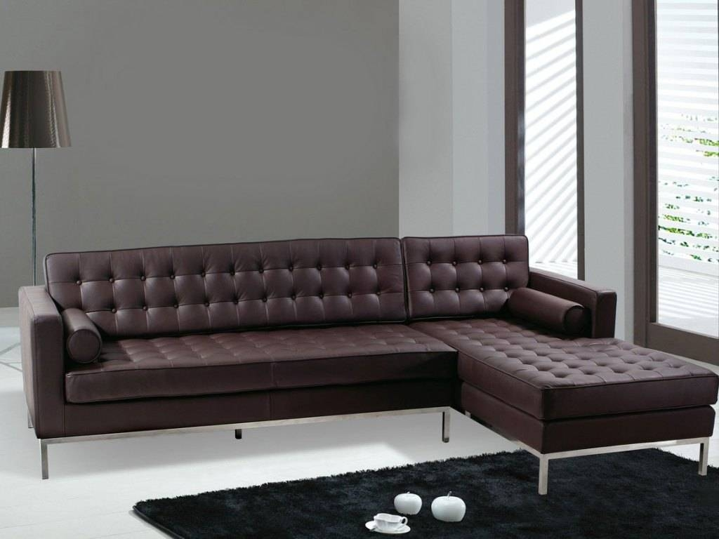 Furniture : 9 Sofa For Sale With Leather Material Leather And intended for Leather And Material Sofas (Image 7 of 30)
