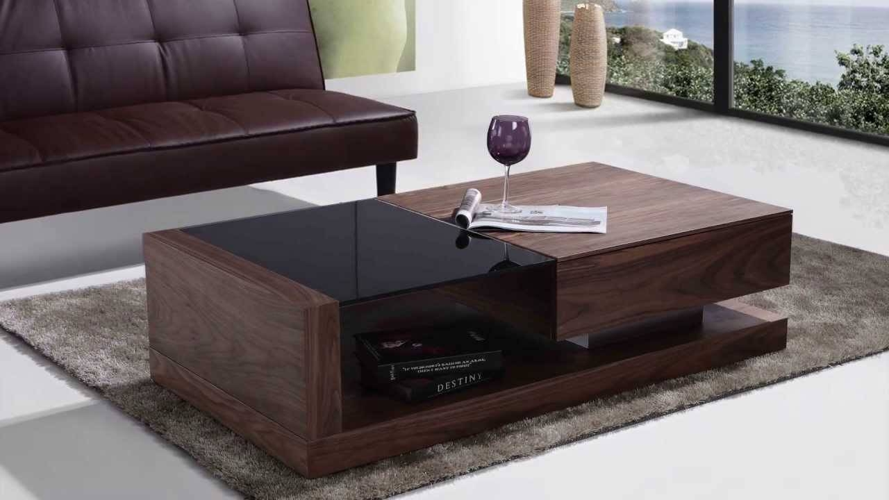 Furniture & Accessories. Black Tempered Glass Coffee Table: Modern inside Black Wood and Glass Coffee Tables (Image 13 of 30)
