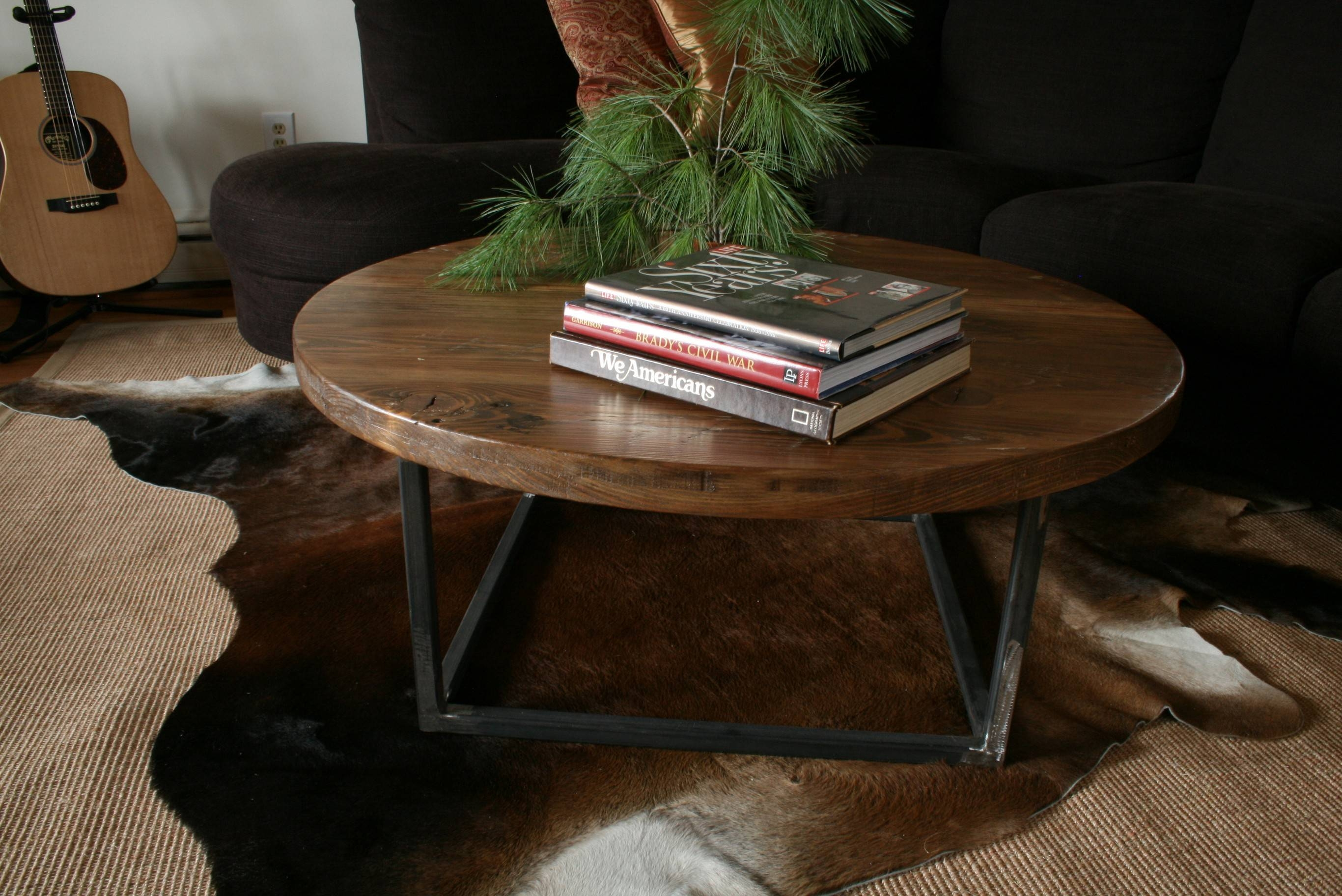 Furniture: Add Impact To Your Living Room Design With Farmhouse Within  Chunky Rustic Coffee Tables