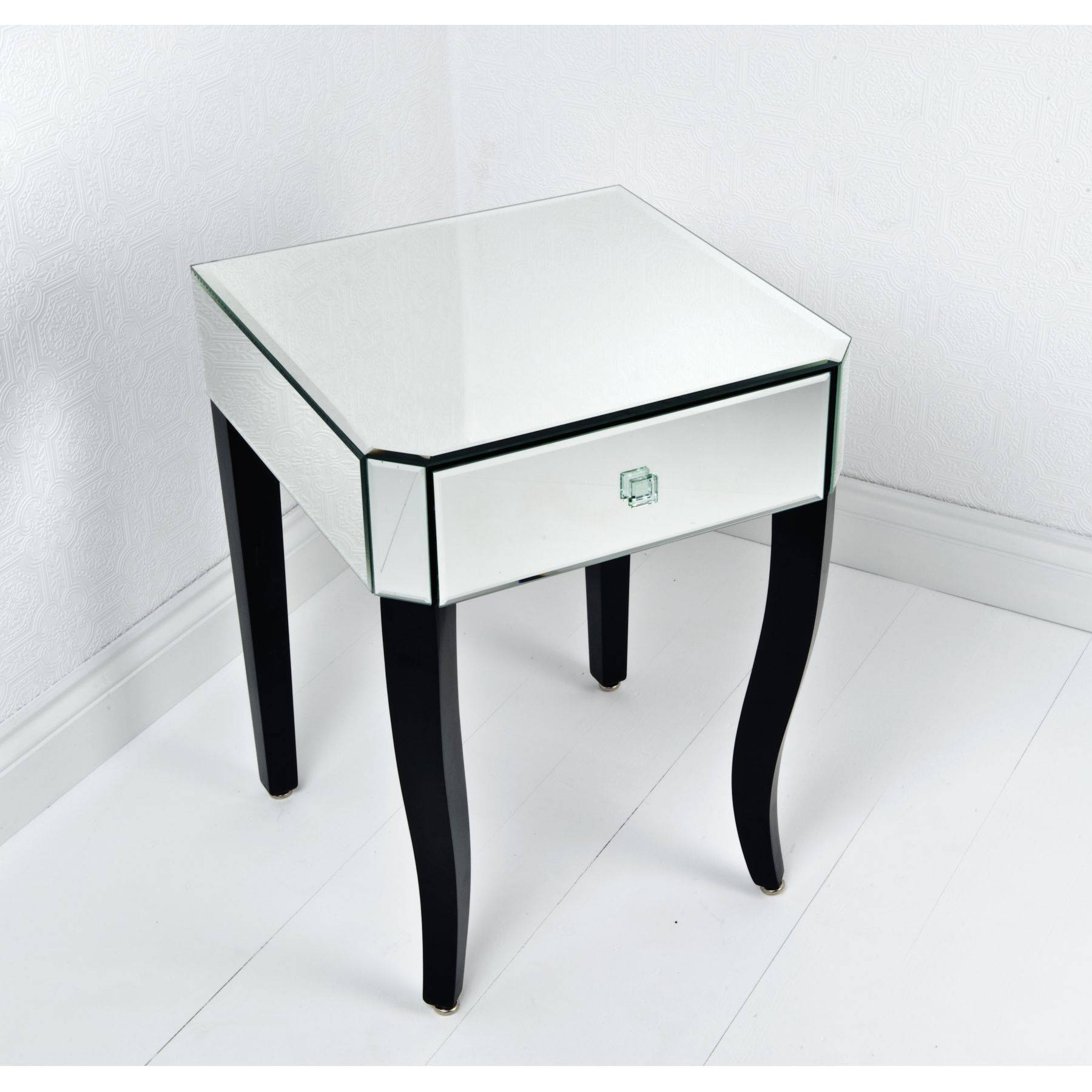 Furniture: Add Modern Style To Your Home With Mirrored Side Table regarding Round Coffee Tables With Drawer (Image 12 of 30)