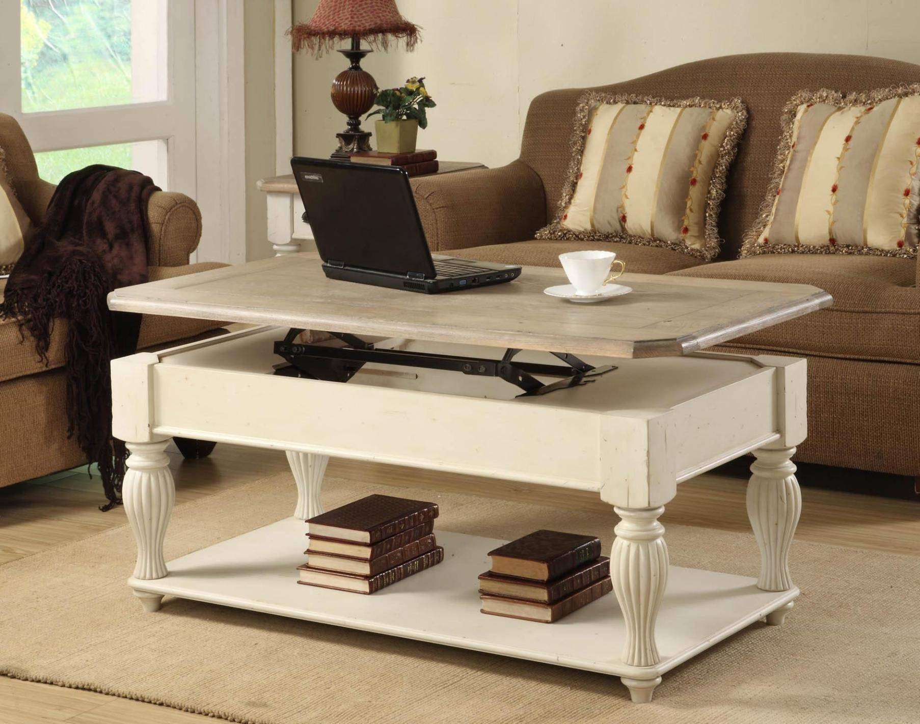 Furniture: Adjustable Coffee Table Combined With Alluring Pattern in Elevating Coffee Tables (Image 15 of 30)