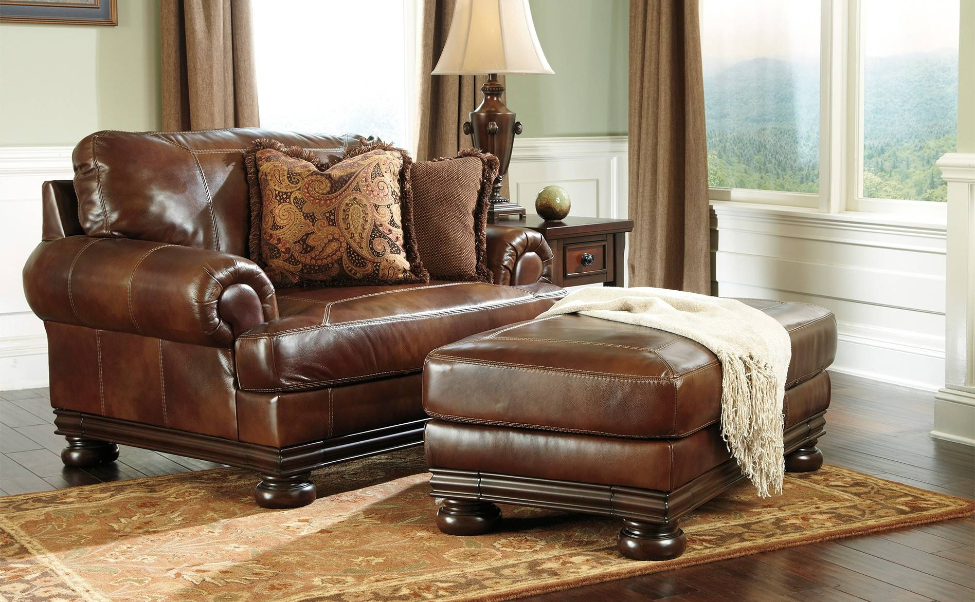 Furniture: Alluring Oversized Chairs With Ottoman For Living Room with Sofa Chair With Ottoman (Image 16 of 30)