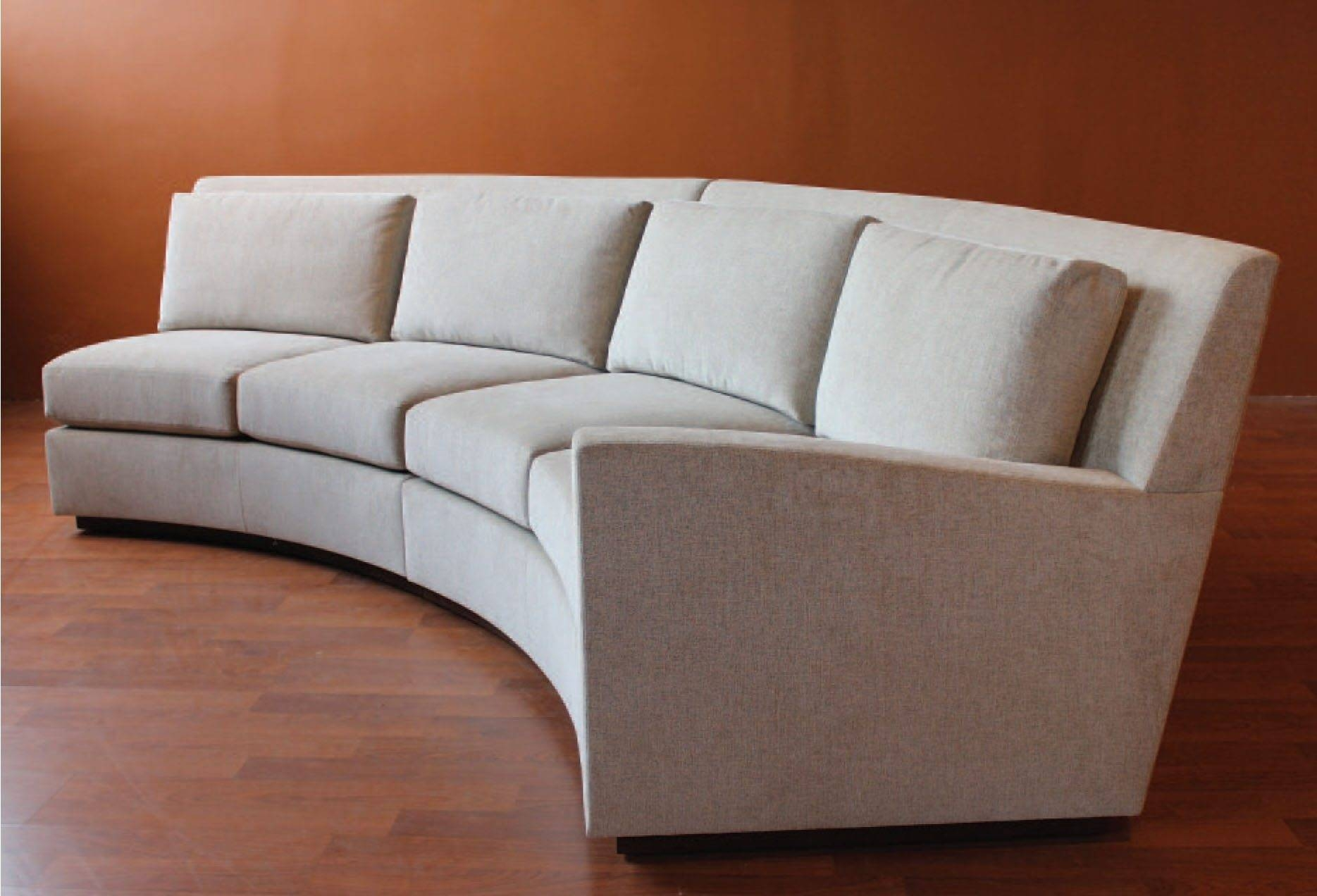 Furniture: Alluring Unique Curved Couches With Classic Design Home regarding Round Sectional Sofa Bed (Image 10 of 25)