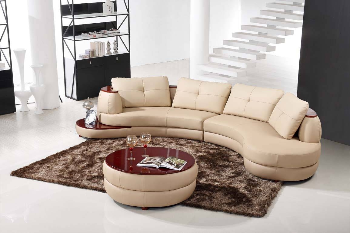 Furniture: Alluring Unique Curved Couches With Classic Design Home throughout Circular Sectional Sofa (Image 11 of 30)