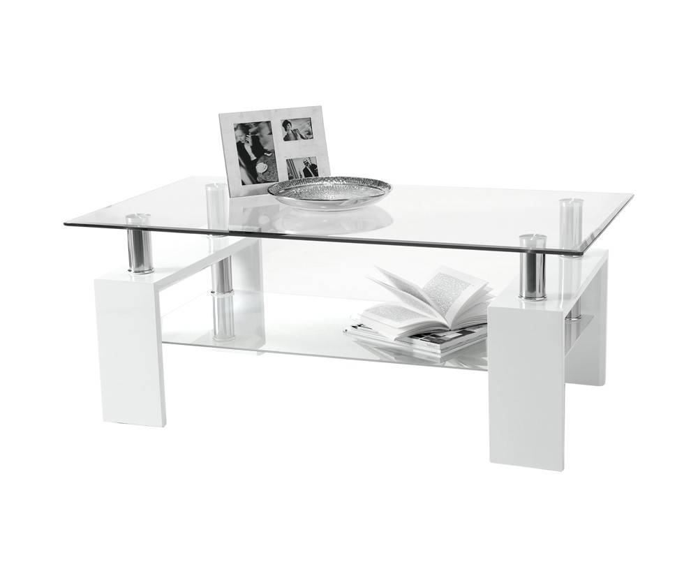 Furniture. Amusing White Glass Coffee Table Ideas: Rectangle regarding White and Glass Coffee Tables (Image 13 of 30)