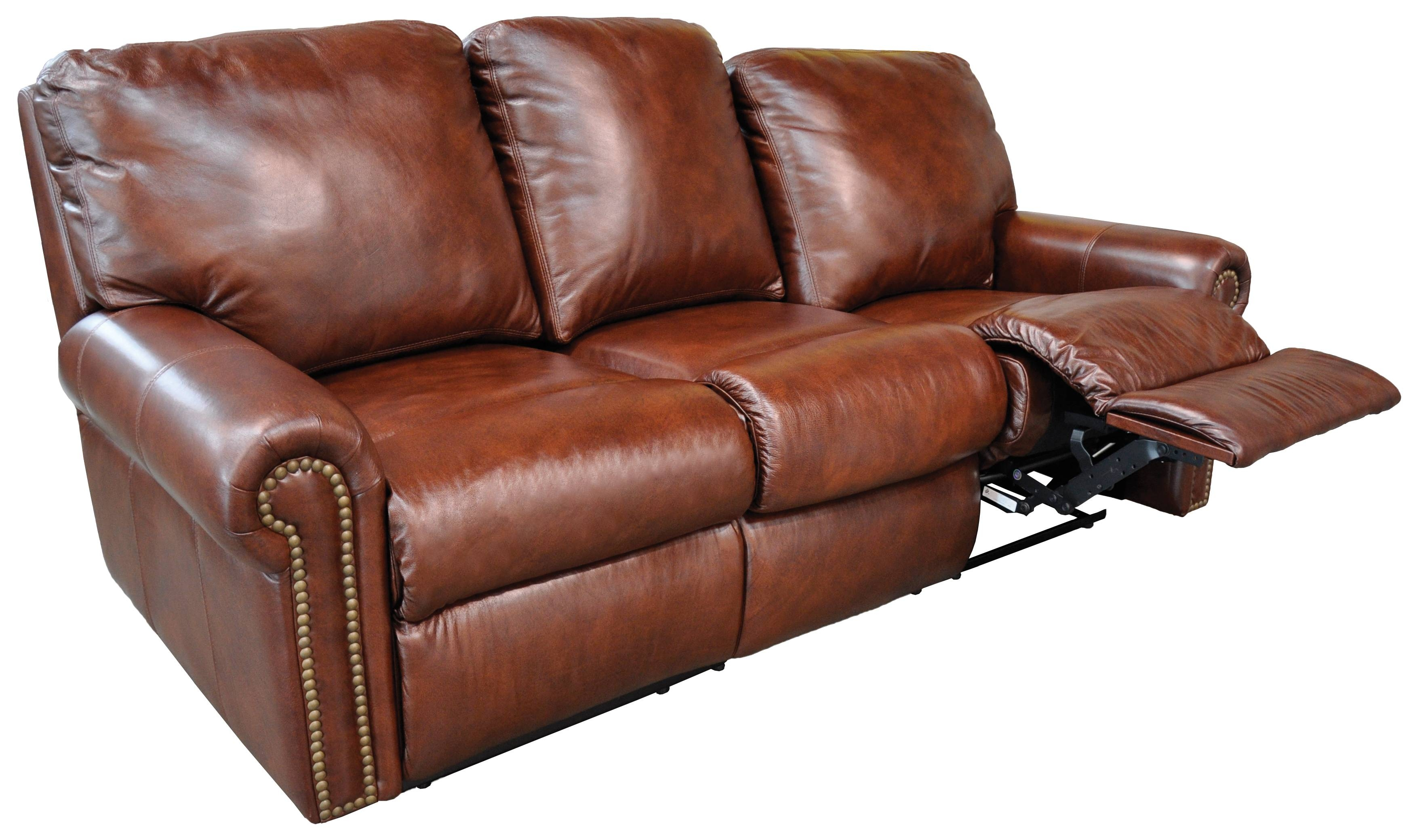 Furniture: Appealing Leather Reclining Couch For Decorating Your Intended For Chesterfield Recliners (View 8 of 30)