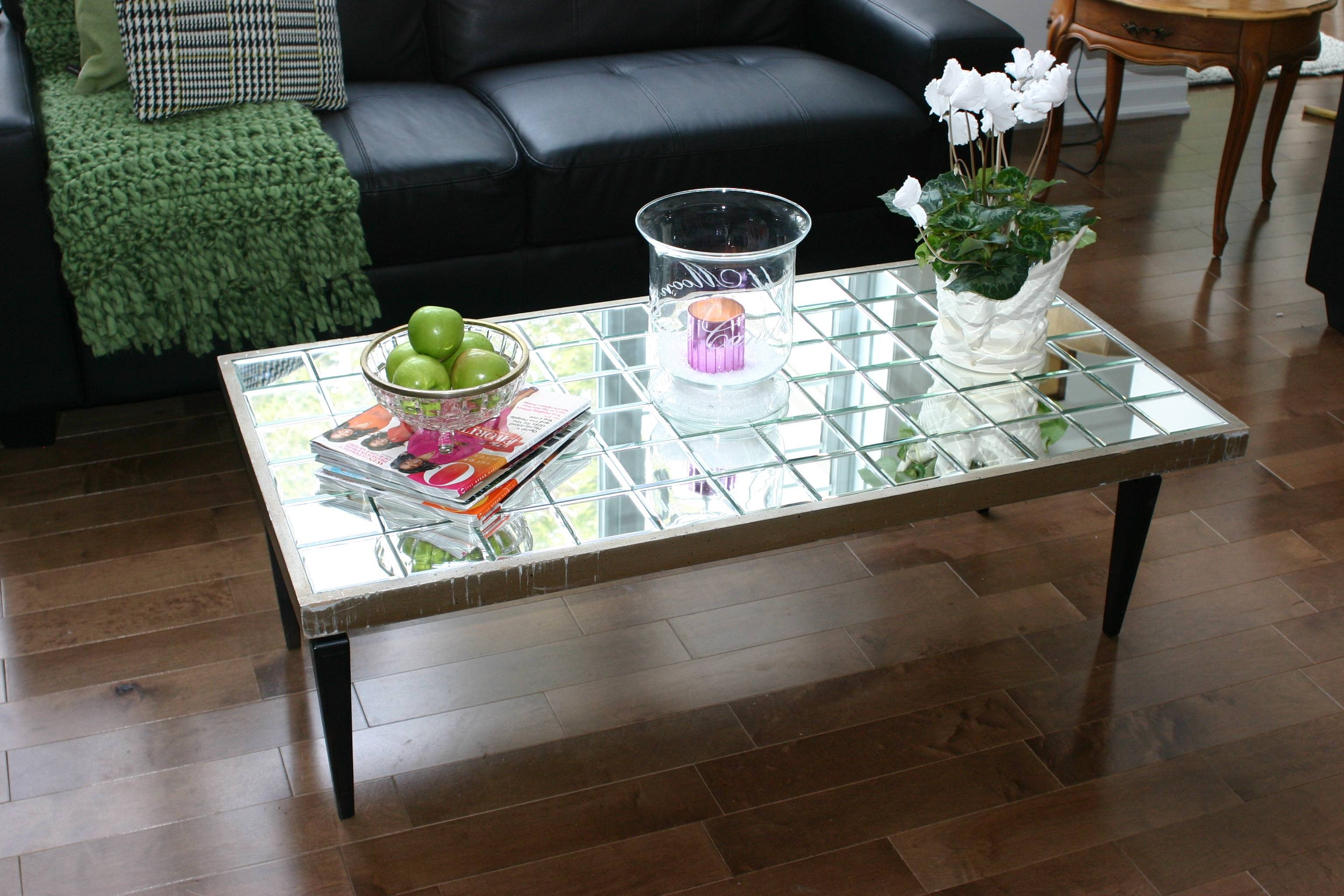 Furniture: Appealing Mirrored Coffee Table For Living Room throughout Antique Mirrored Coffee Tables (Image 13 of 30)