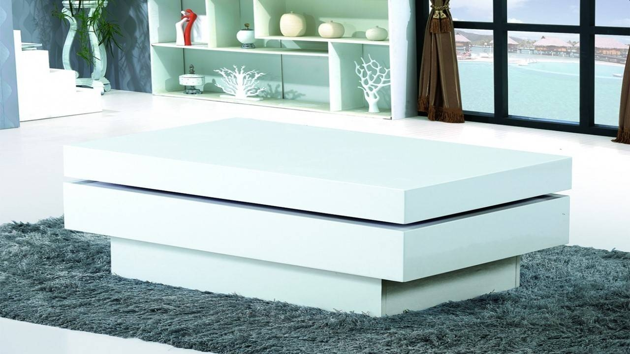 Furniture: Appealing White Gloss Coffee Table Design Ideas White with Gloss Coffee Tables (Image 14 of 30)