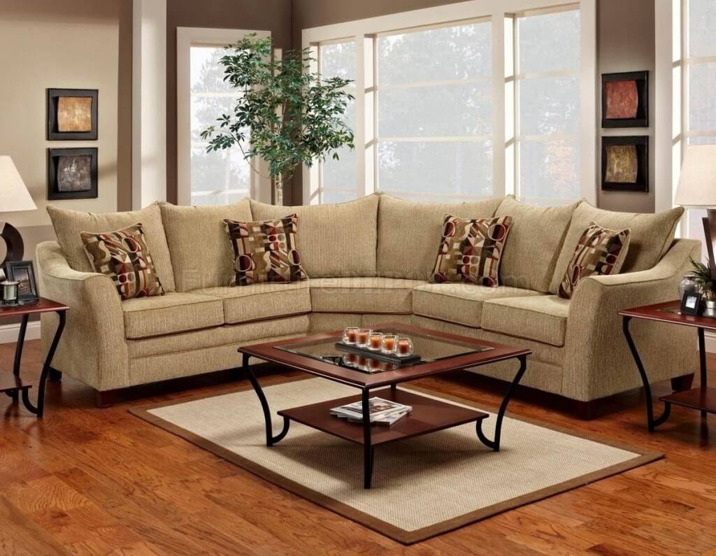 Furniture: Astounding Fabric Sectional Sofas With Chaise And inside Cloth Sectional Sofas (Image 11 of 30)