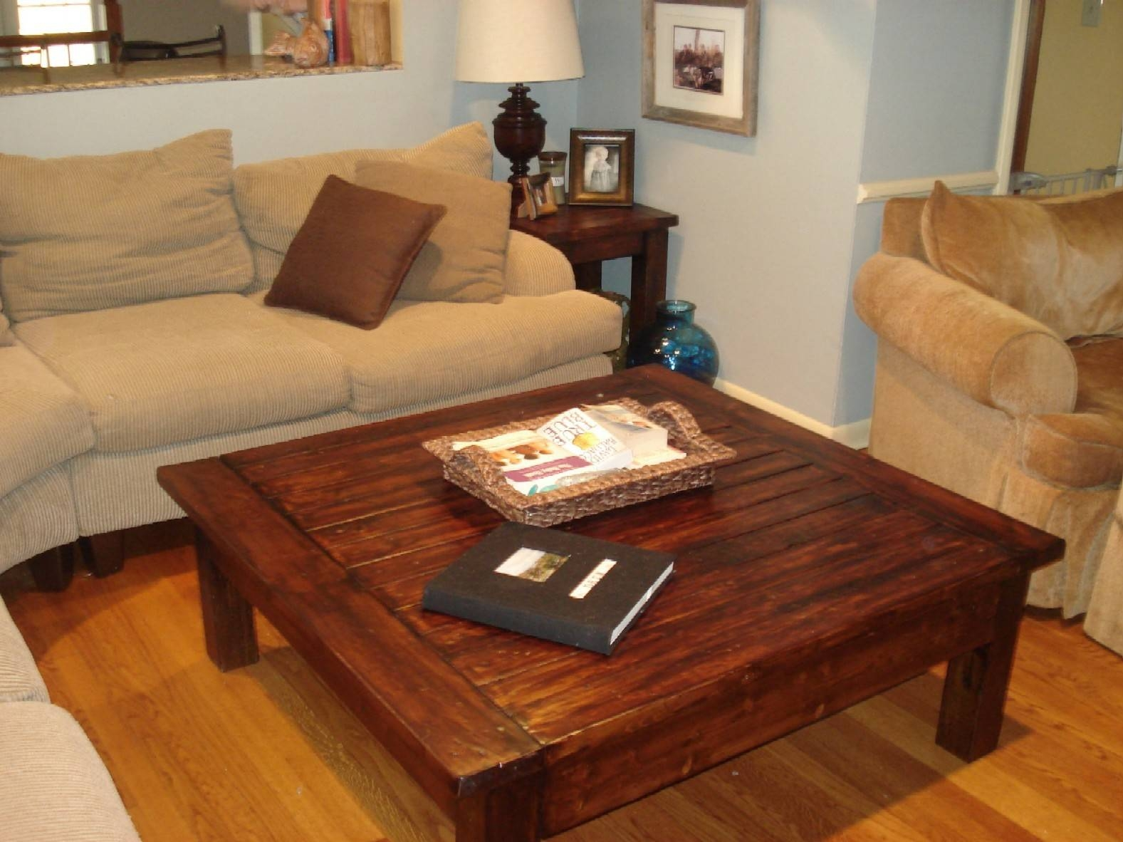 Furniture: Attractive Square Coffee Table For Modern Living Room in Large Square Wood Coffee Tables (Image 11 of 30)