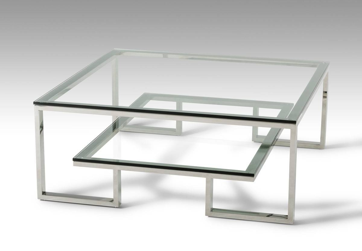 Furniture Awesome Coffee Tables Design Ideas: Dark Brown – Jericho Intended For Glass And Silver Coffee Tables (View 11 of 30)