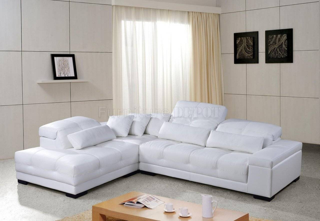 Furniture: Awesome Living Room Design With Contemporary Sectional pertaining to White Sectional Sofa For Sale (Image 8 of 30)